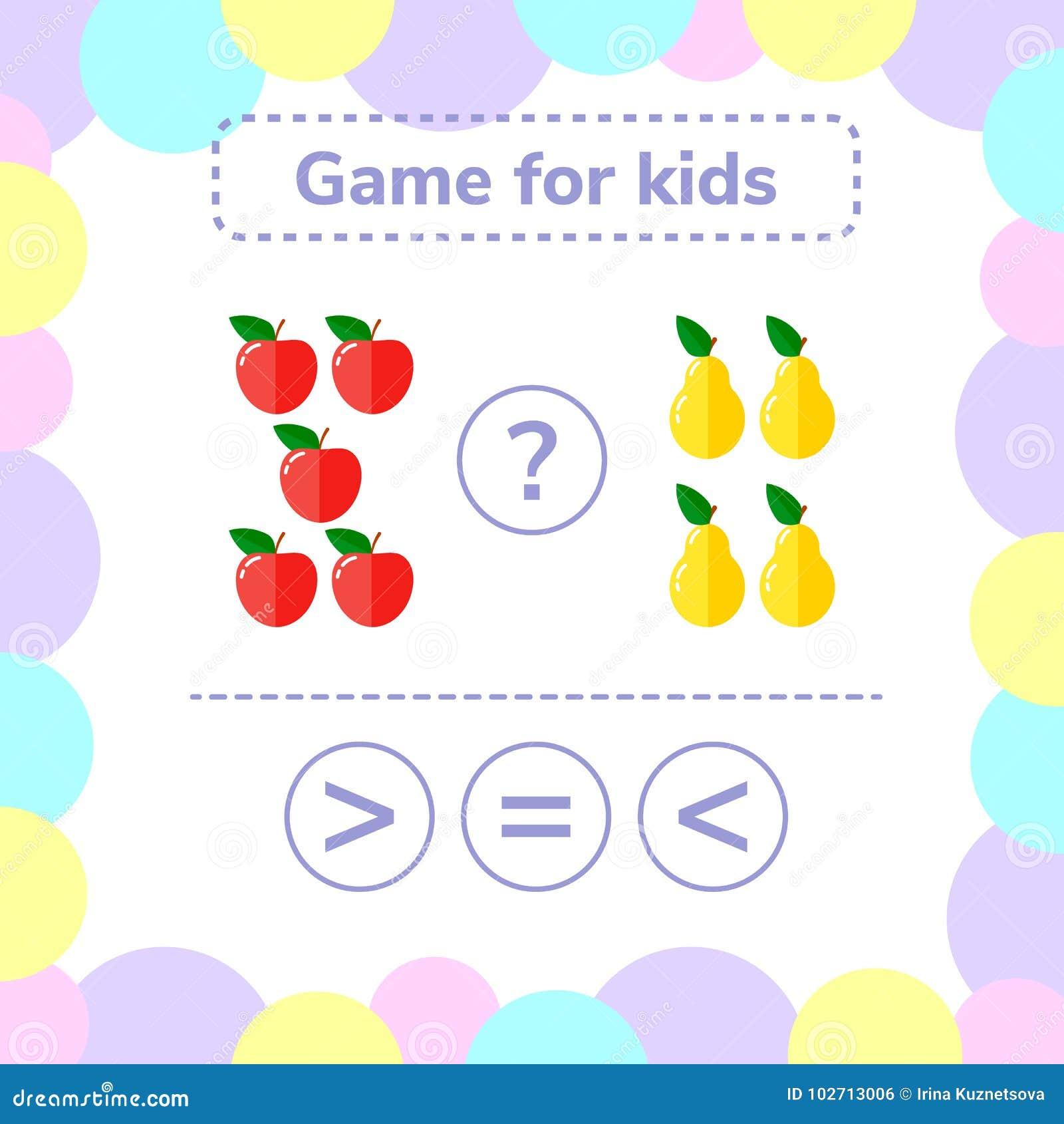也corel凹道例证向量 教育学龄前孩子的逻辑比赛