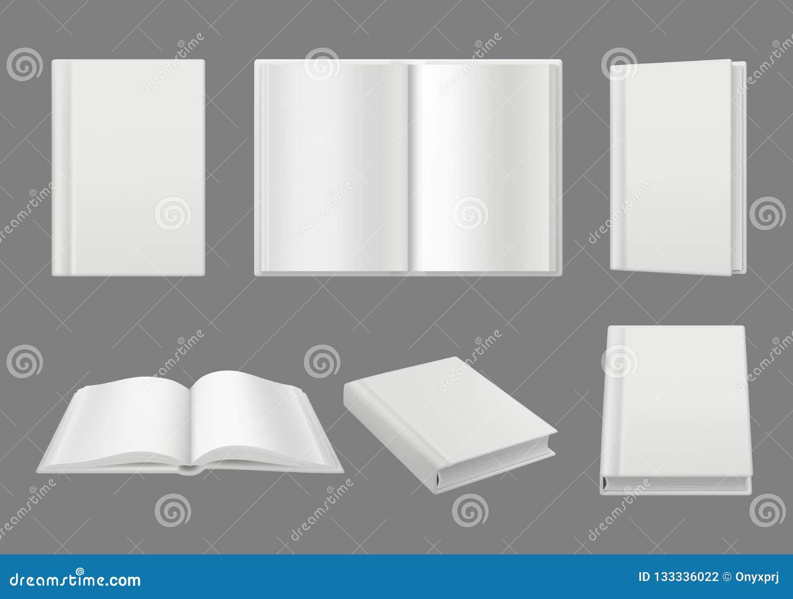 书套模板 干净的白色3d页被隔绝的小册子或杂志传染媒介现实大模型