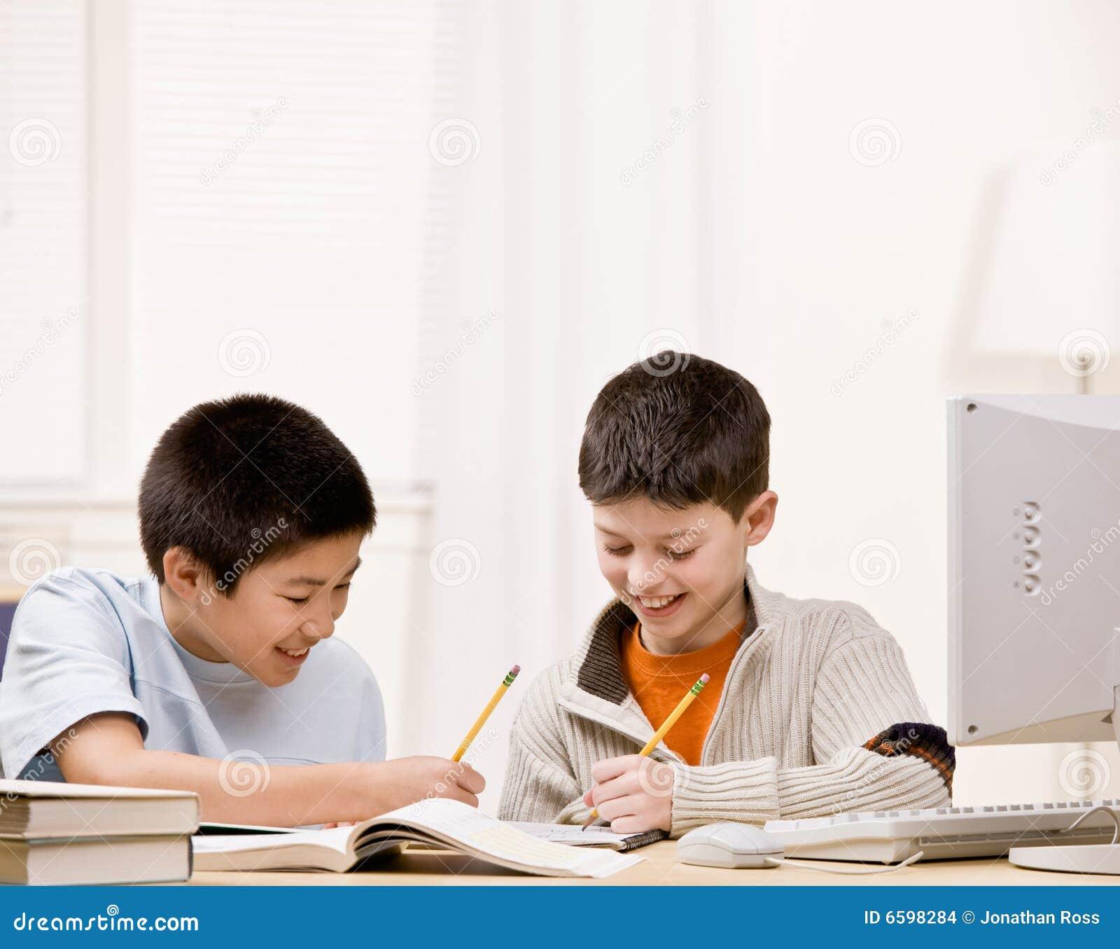 书执行朋友帮助的家庭作业学员文本