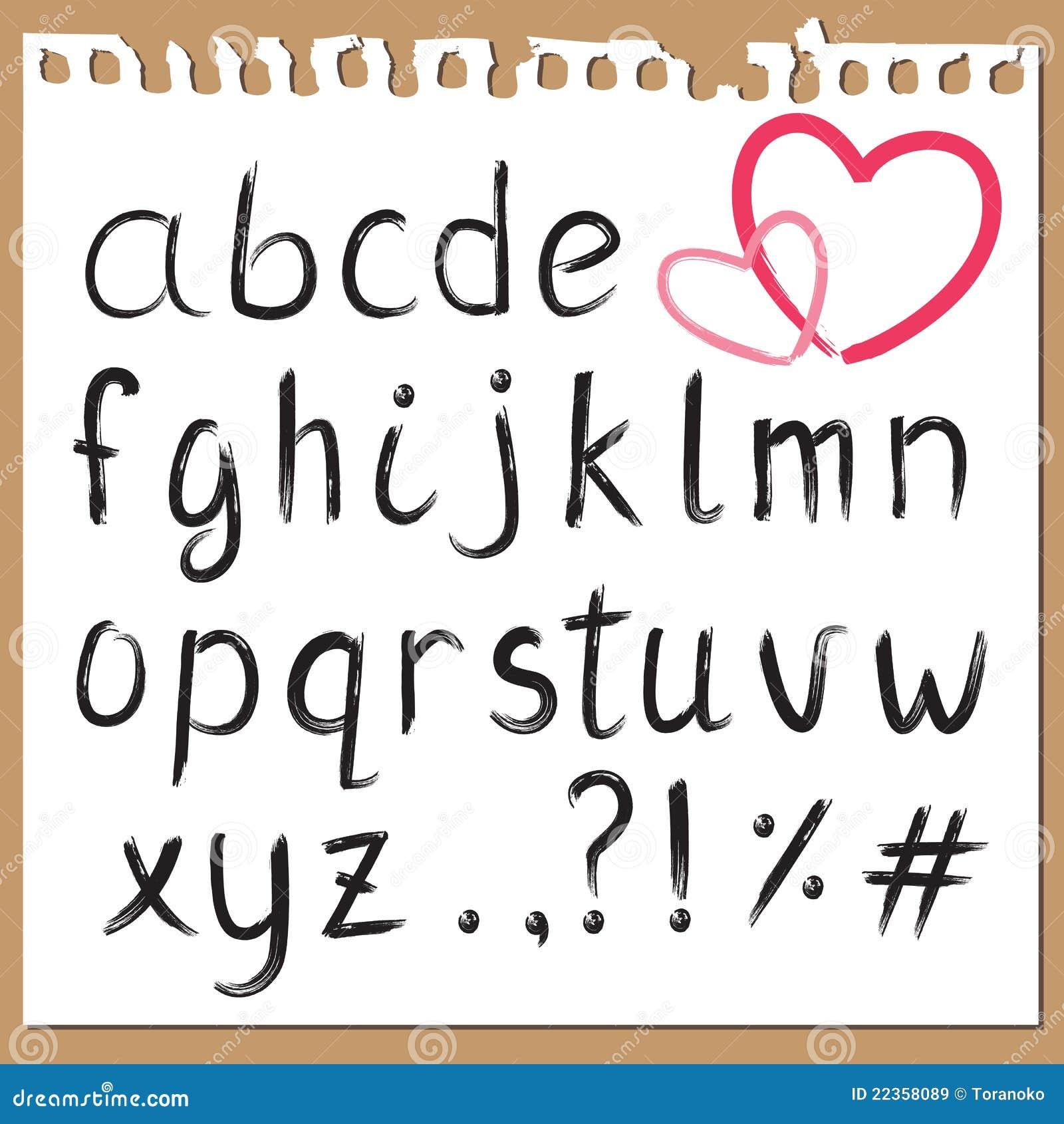 书面的字母表现有量