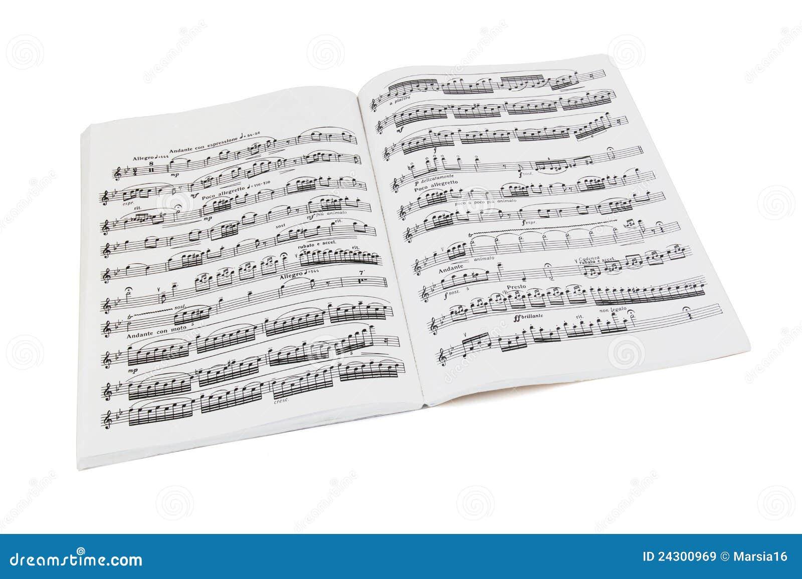 书音乐纸张