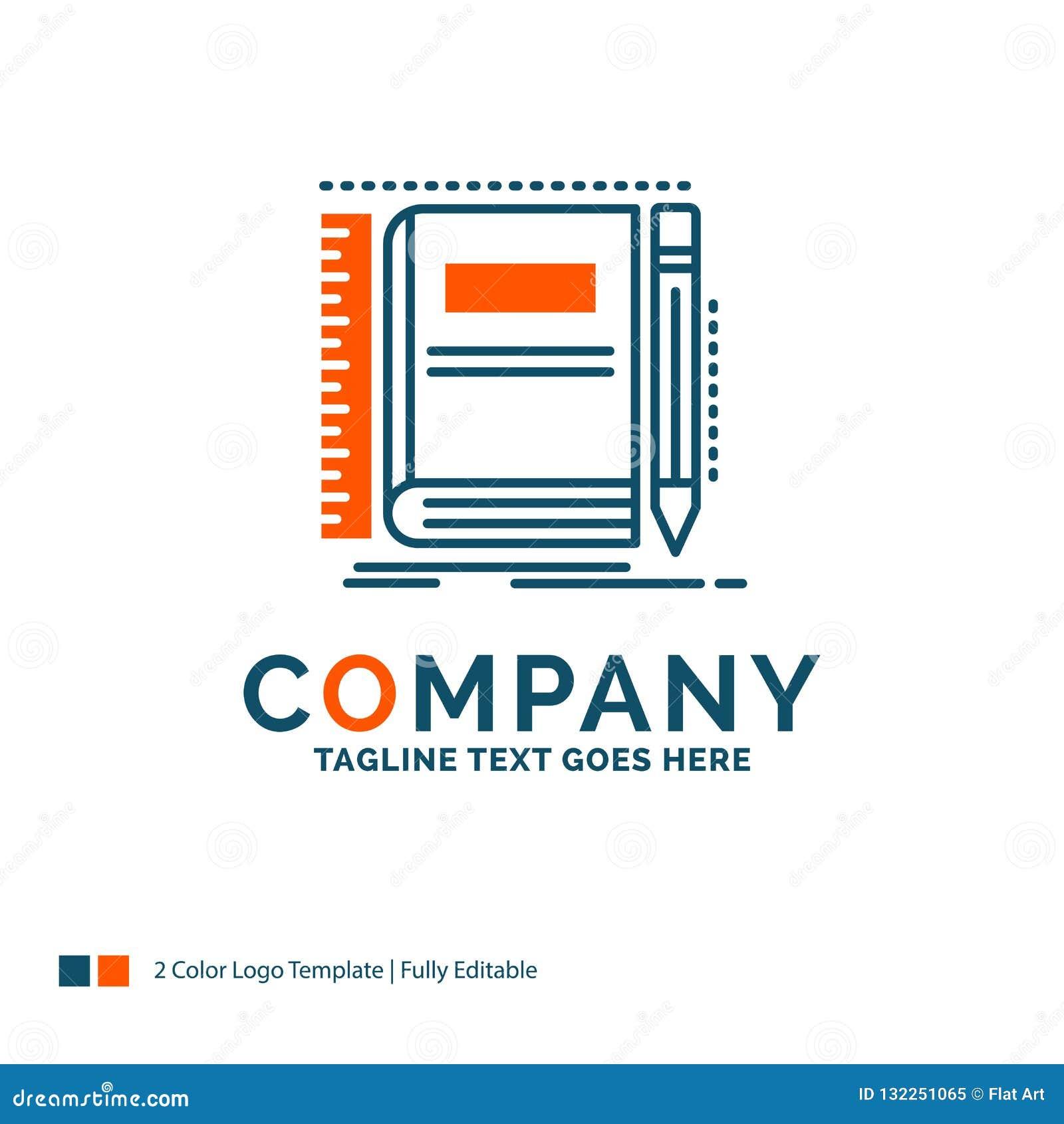 书,笔记本,笔记薄,口袋,速写商标设计 蓝色和