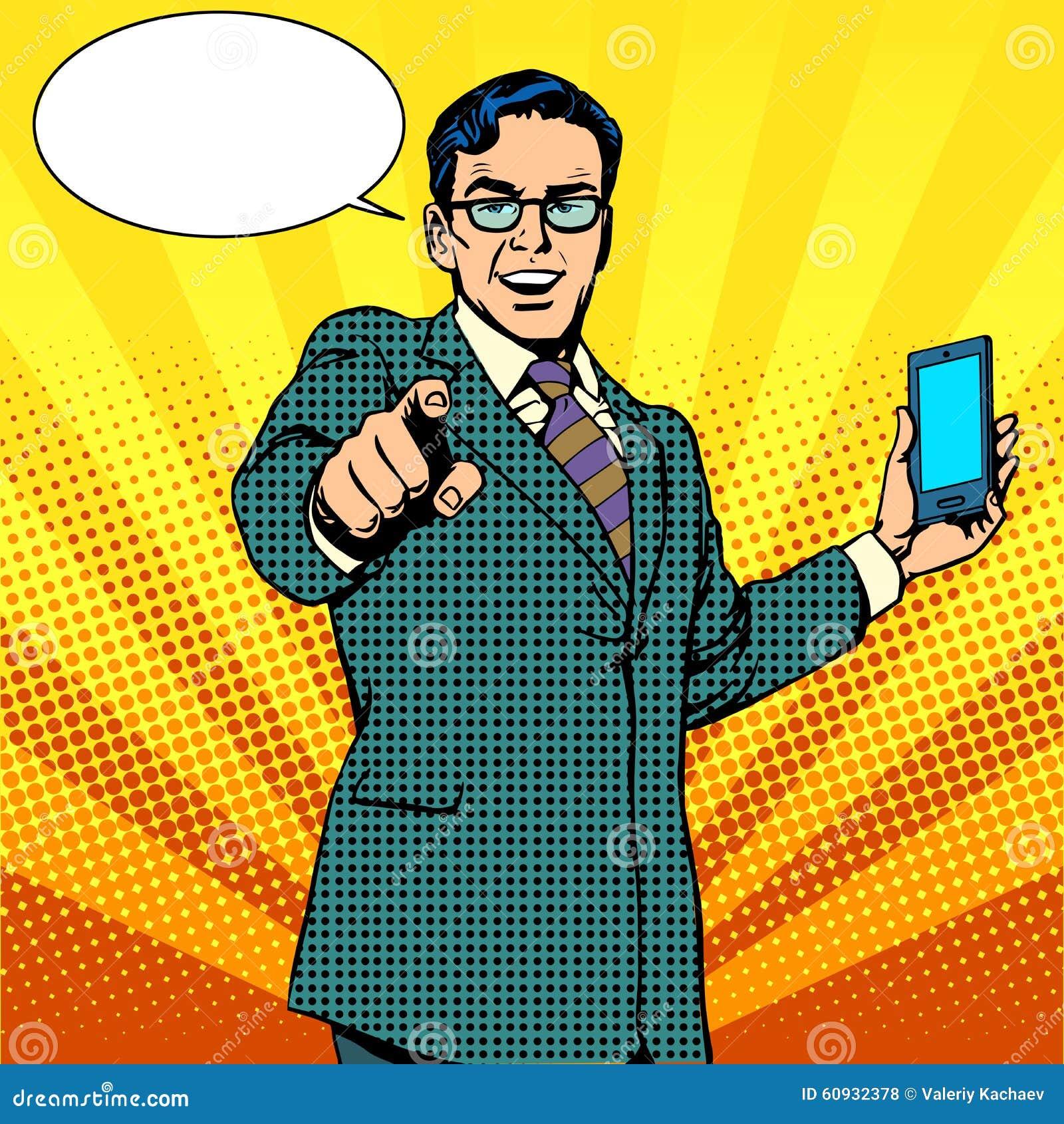 买一个新的小配件和电话企业概念