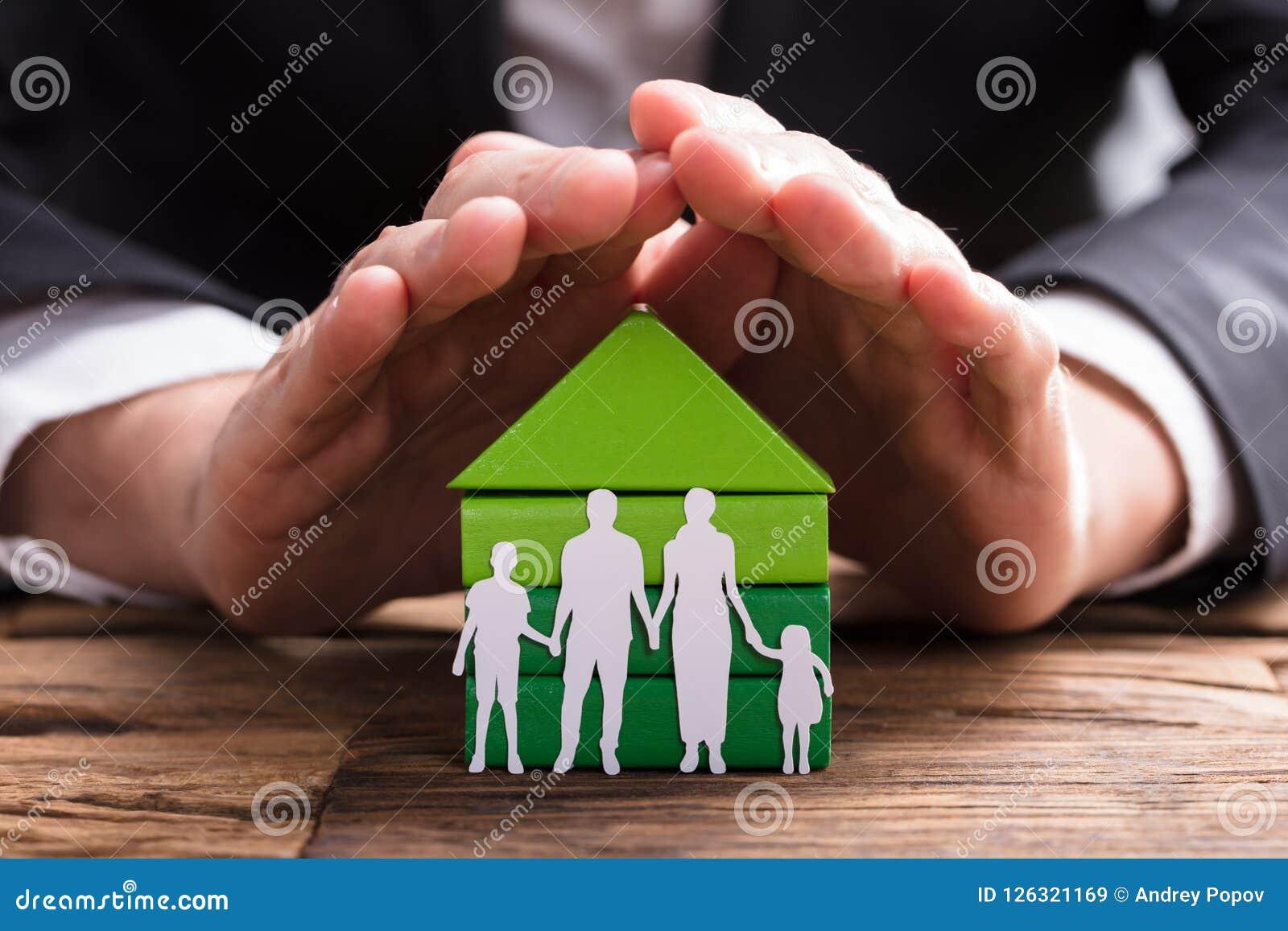 买卖人被删去的保护的议院模型和家庭纸