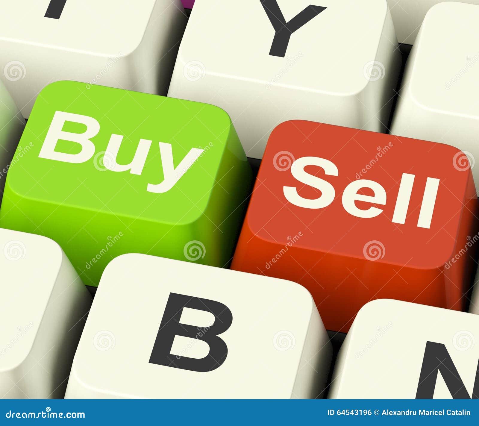 买卖在网上代表企业贸易或股票的钥匙