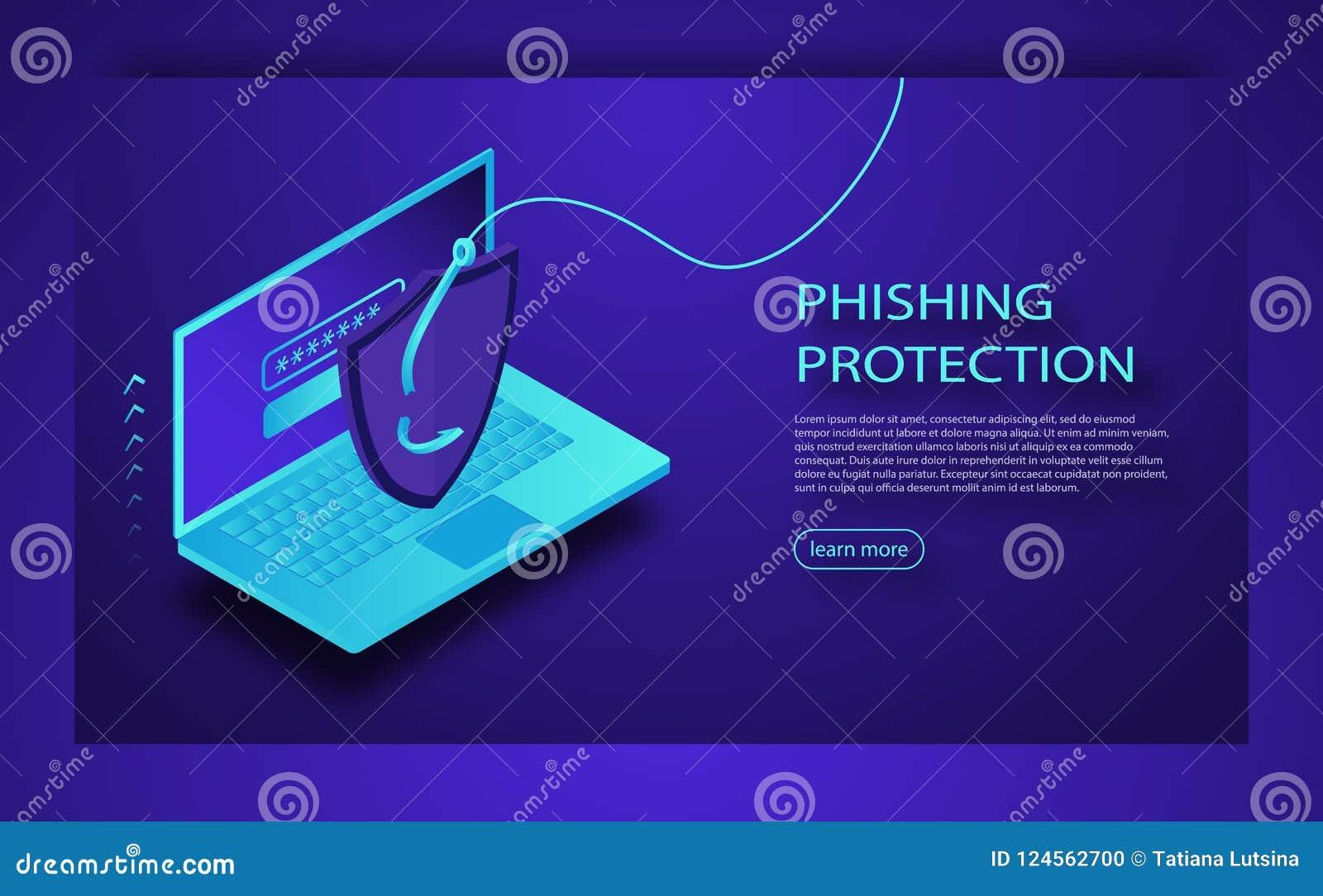 乱砍信用卡或个人信息网站 网络银行帐户攻击 Phishing保护概念