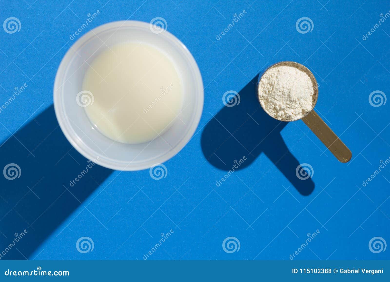 乳清蛋白 朴素和坚硬光 测量的瓢充分的wi