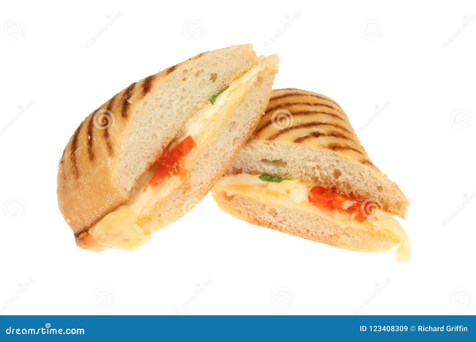 乳酪和蕃茄panini