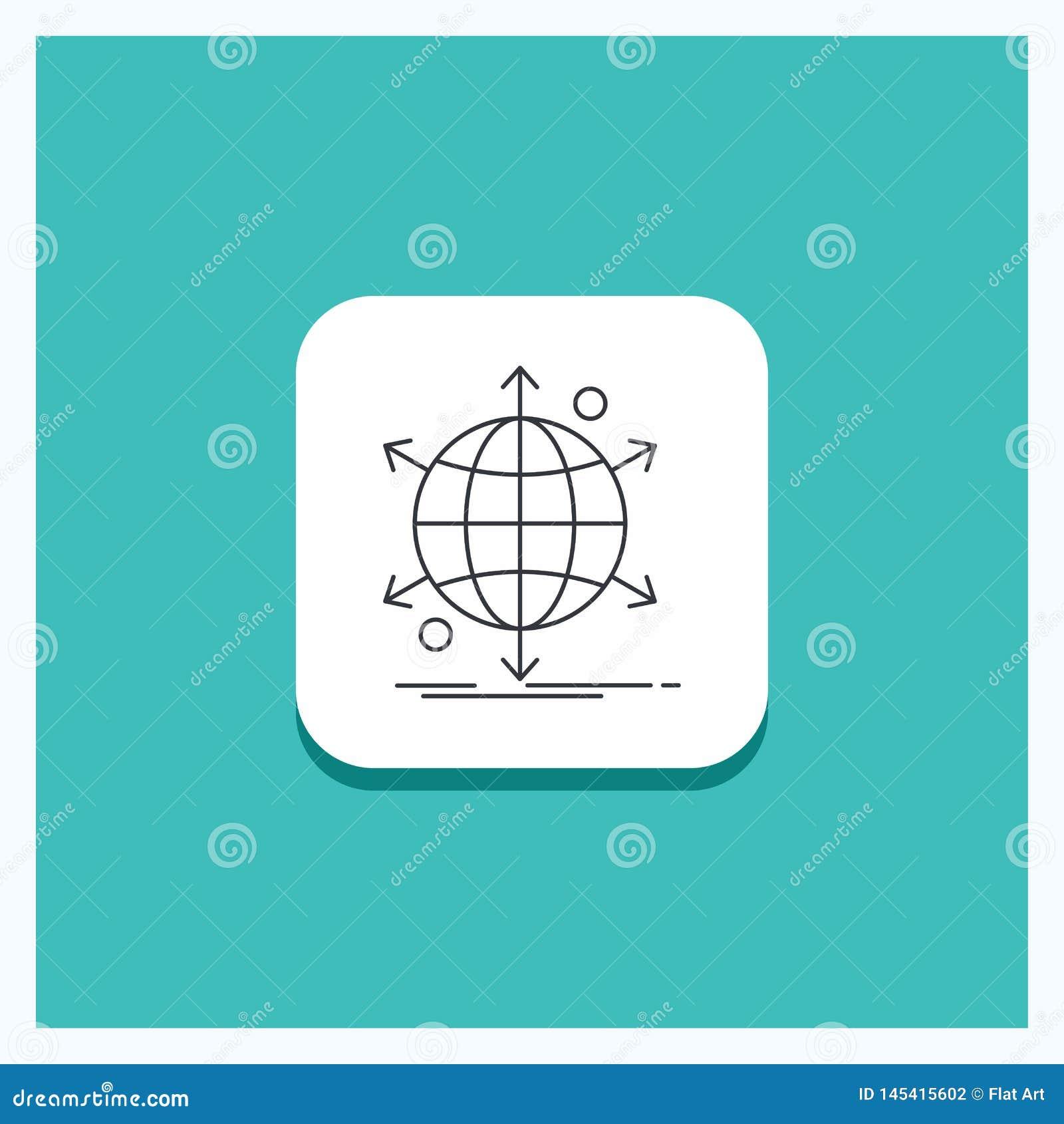事务的,国际,净,网络,网线象绿松石背景圆的按钮
