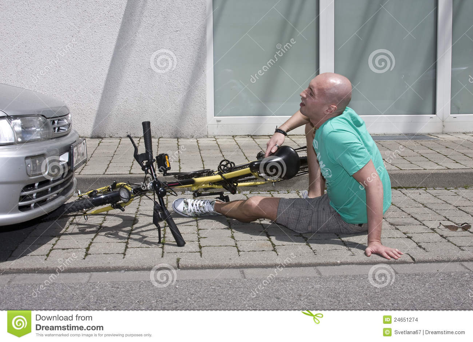 事故自行车