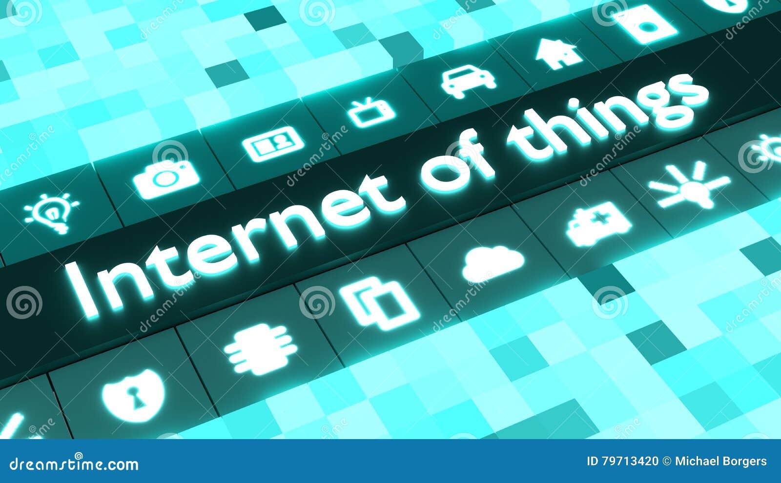 事概念抽象互联网在蓝色的与象