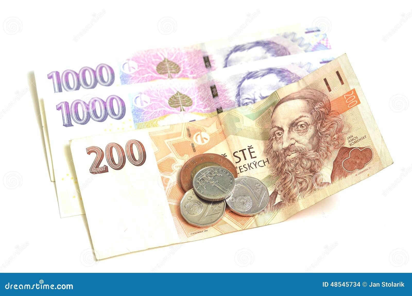 二千,二百和硬币捷克冠