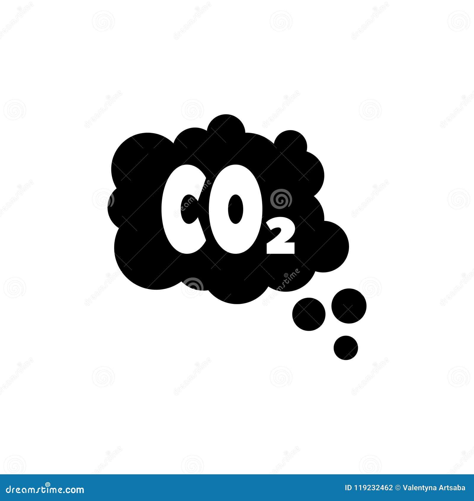 二氧化碳排放云彩,烟雾污染平的传染媒介象