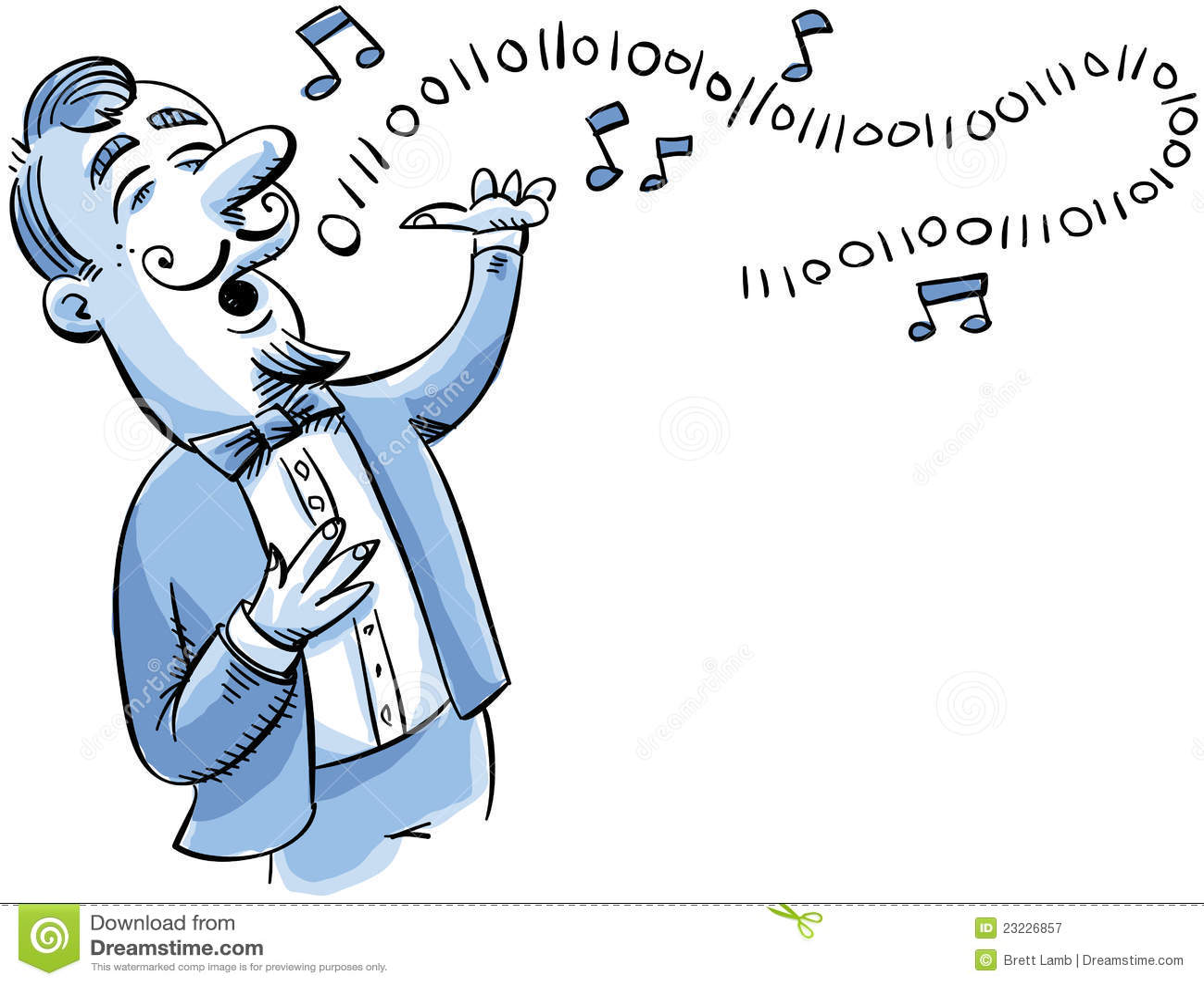 二进制动画片数字歌唱家唱歌曲.图片