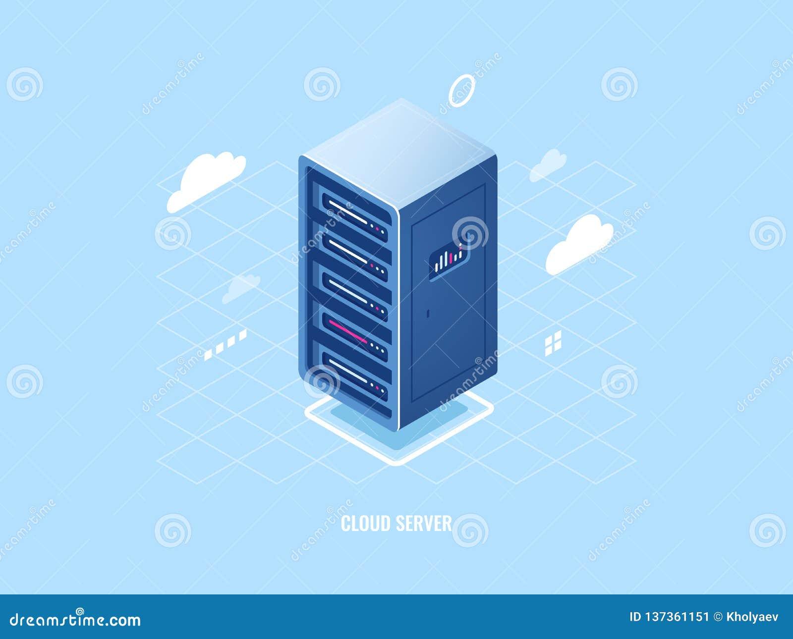 云彩储存工艺象,平的等量服务器室机架,blockchain安全概念,网络主持互联网