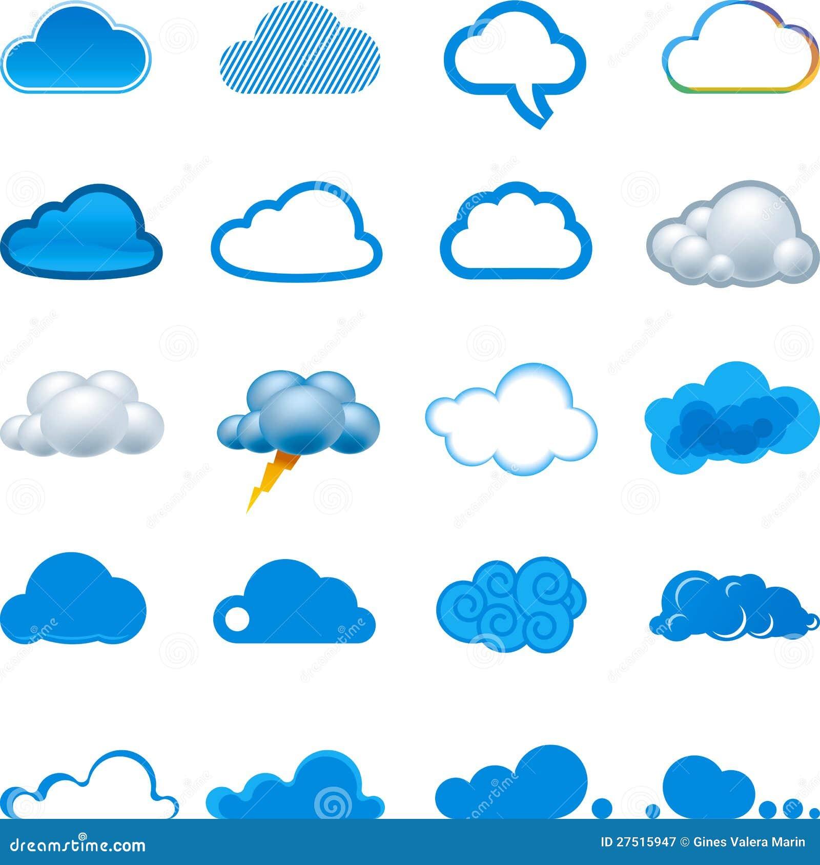 云彩图标集图片