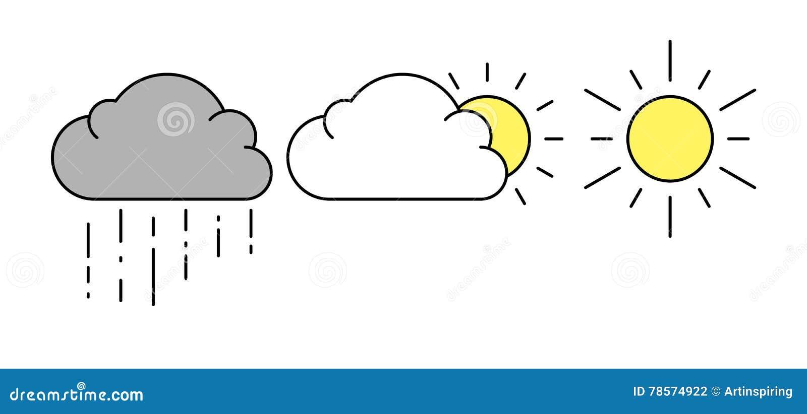 云彩图标雨星期日天气