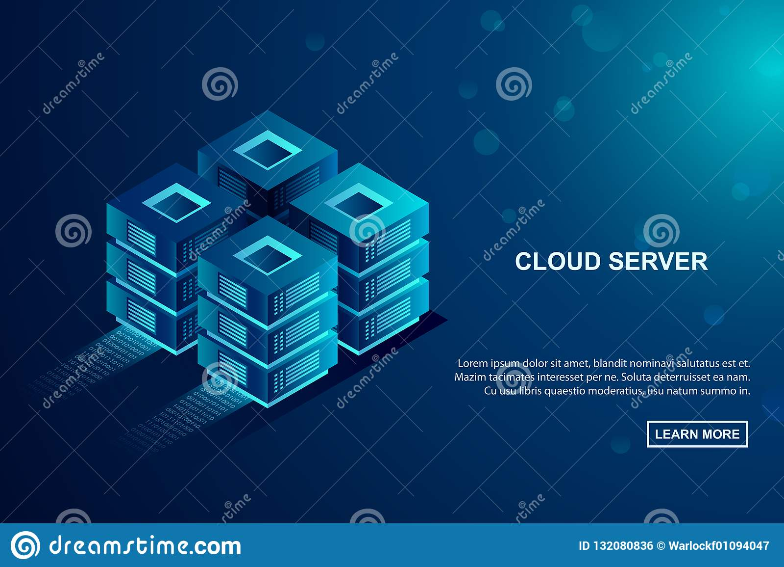 云彩存贮服务器,主持概念的数据 等量传染媒介例证