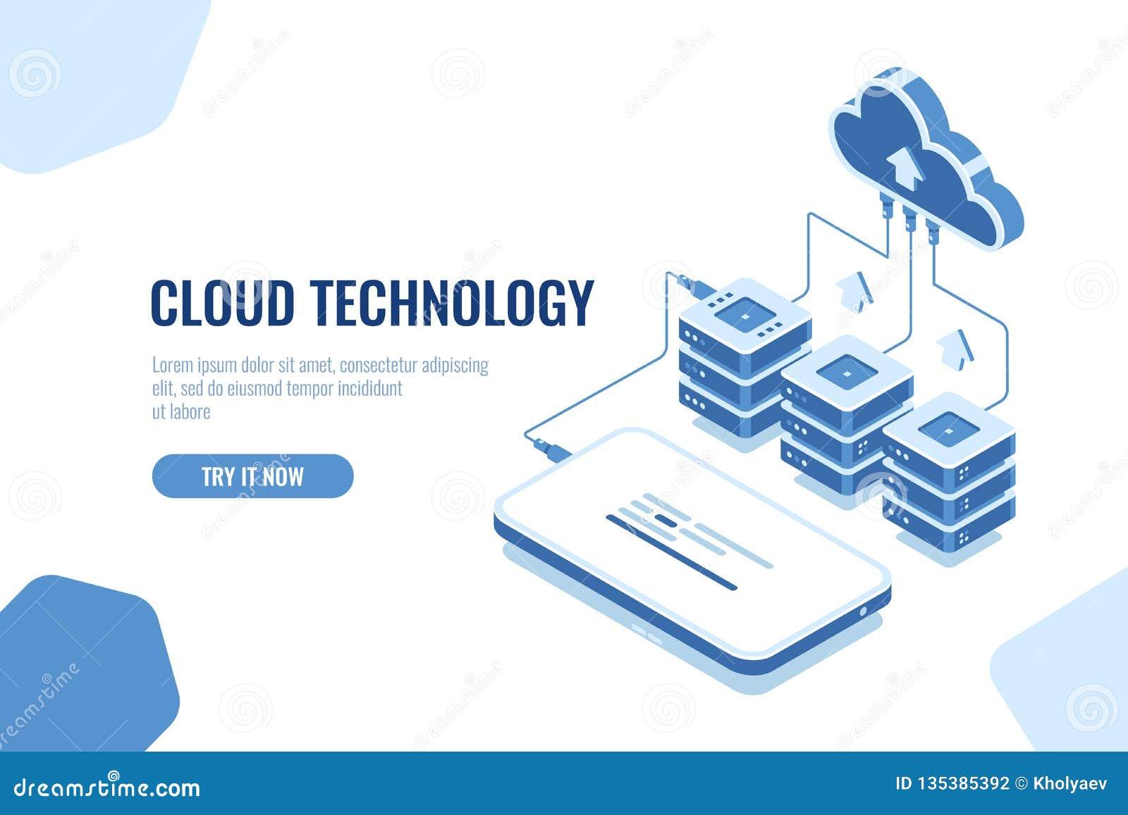 云彩技术存贮和调动数据等量,手机数据下载、远程服务器室和数据库