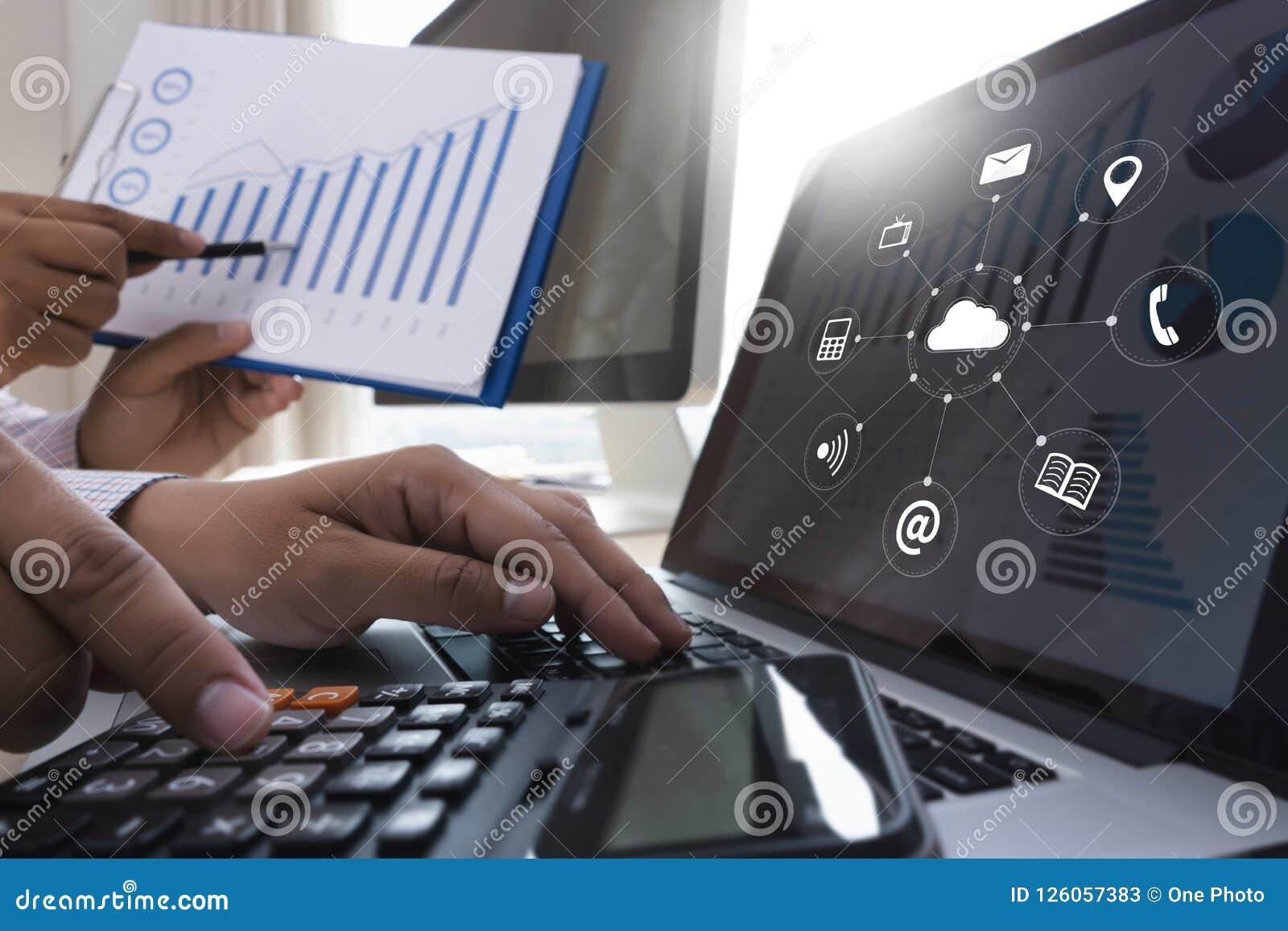 云彩服务(在相互新的计算机上的云彩计算的图