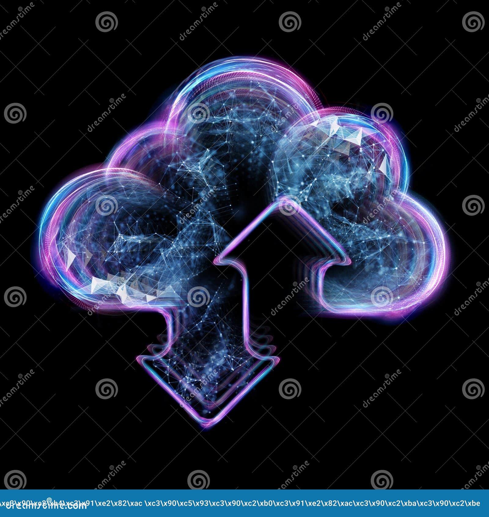云彩计算的概念-连接到云彩 商人或信息工艺师有云彩计算的象的