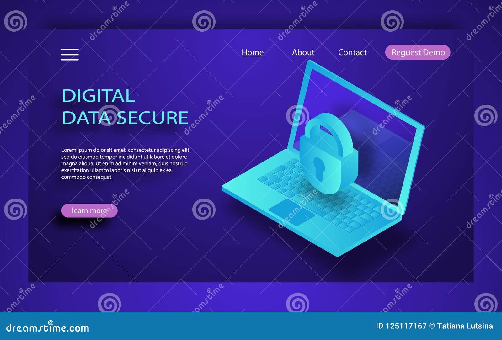 互联网安全等量概念 交易加密, VPN,秘密保护抗病毒文丐 等量平的3d