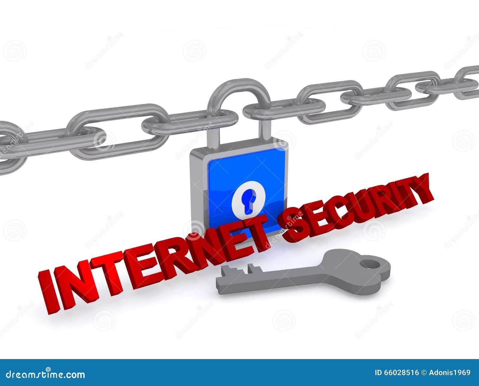 互联网安全3D锁和钥匙