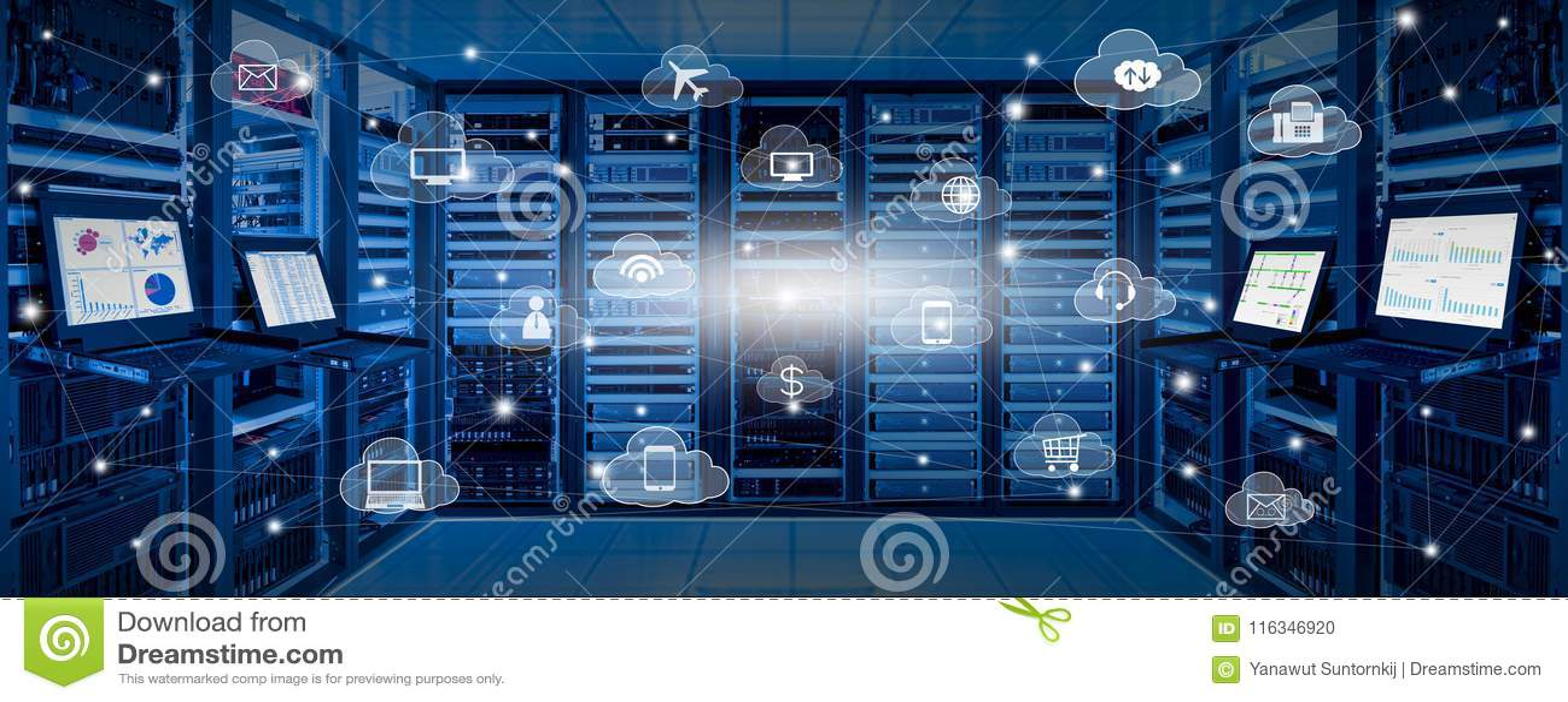 互联网数据中心和云彩服务概念