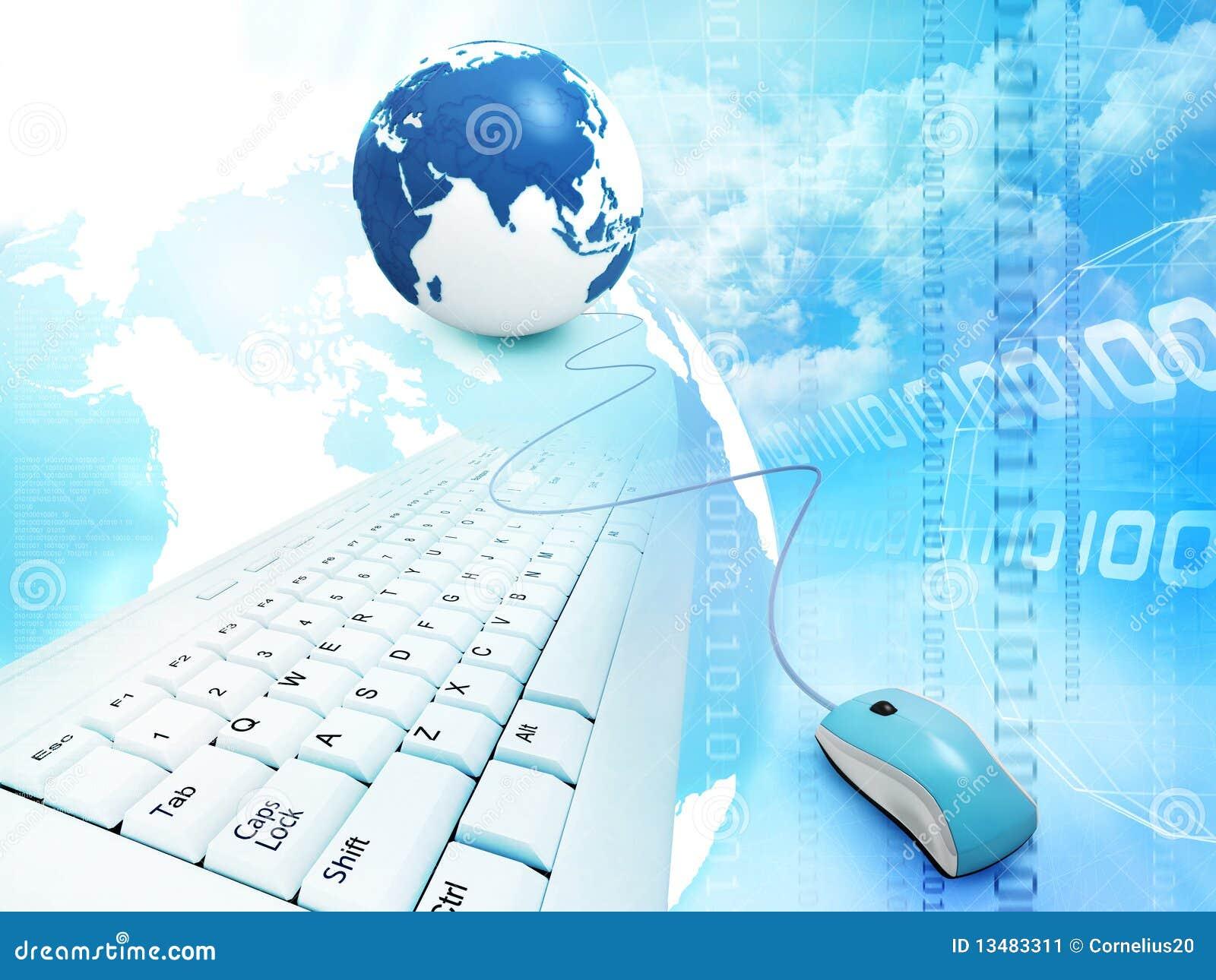 抽象蓝色构思设计互联网.图片