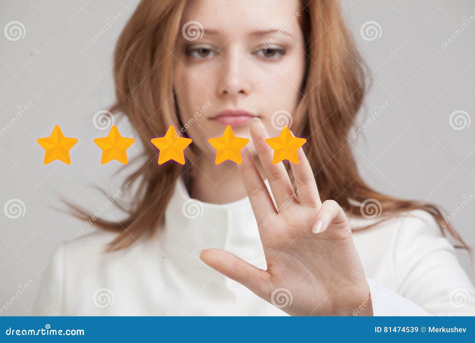五个星规定值或等级,基准点概念 妇女估计服务,旅馆,餐馆