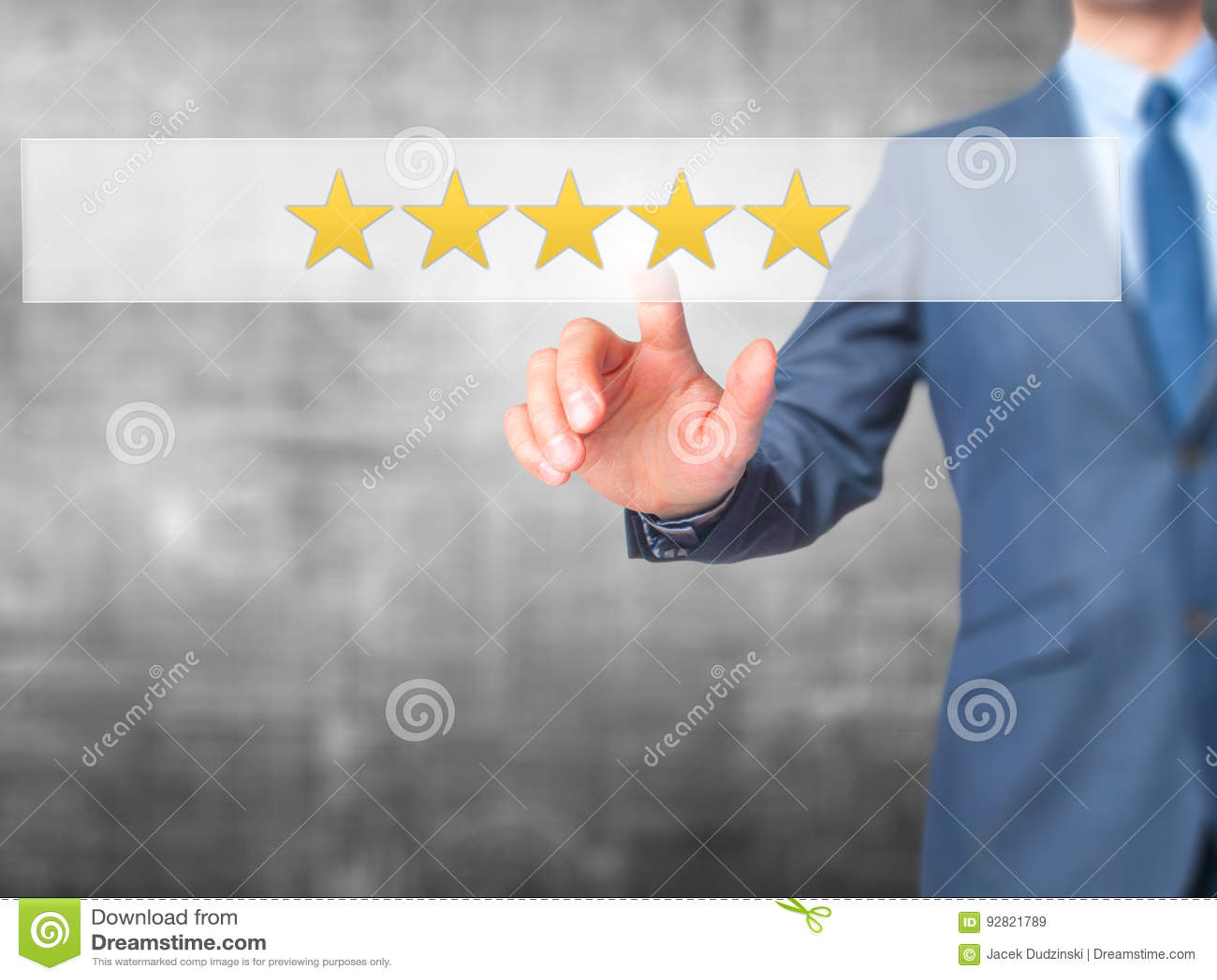 五个星规定值-商人手在接触scr的紧迫按钮