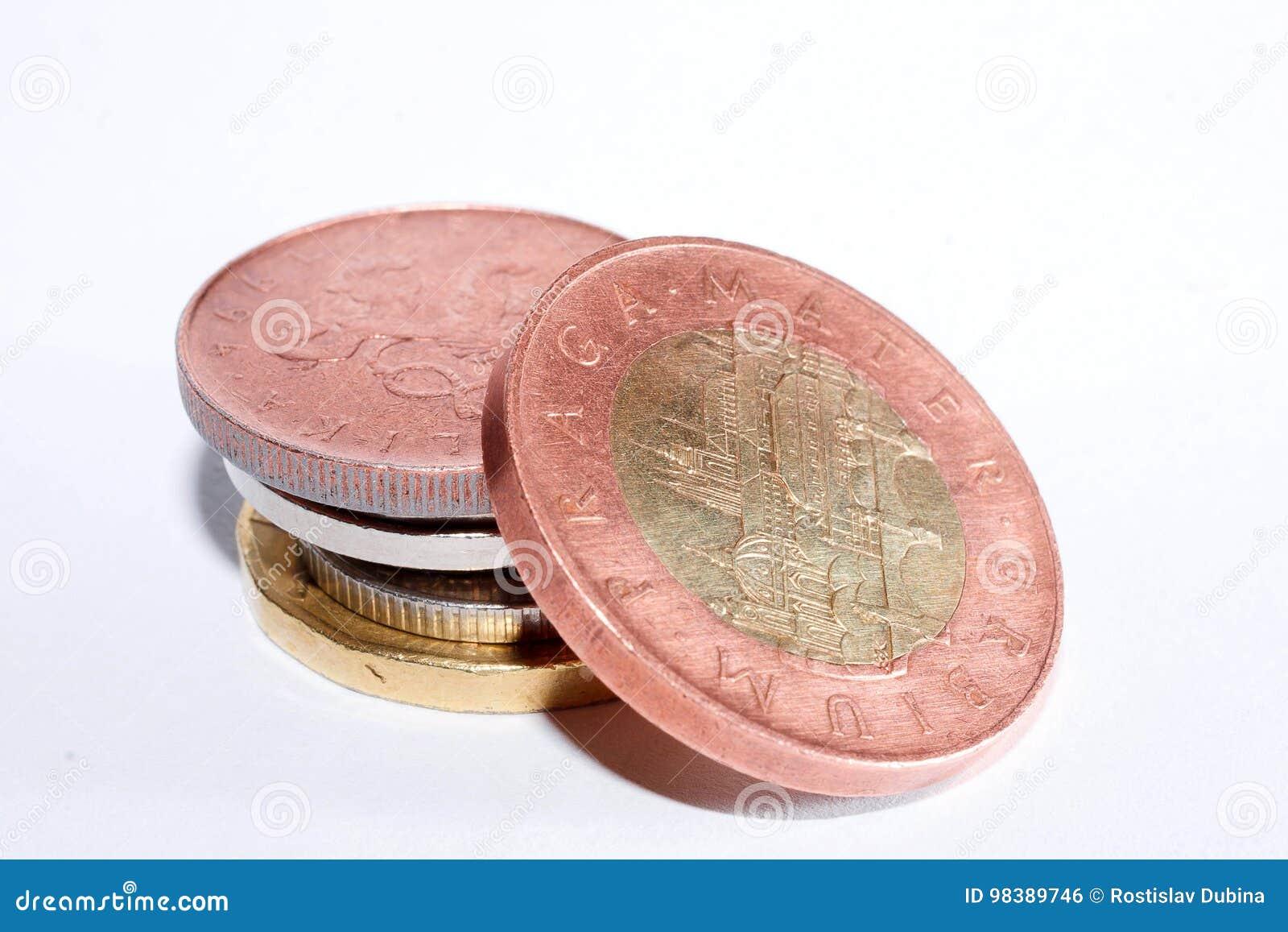 五十个捷克冠 捷克的货币 宏观照片