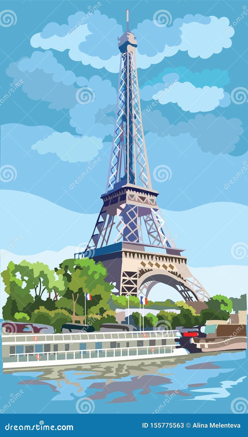 五颜六色的传染媒介巴黎1