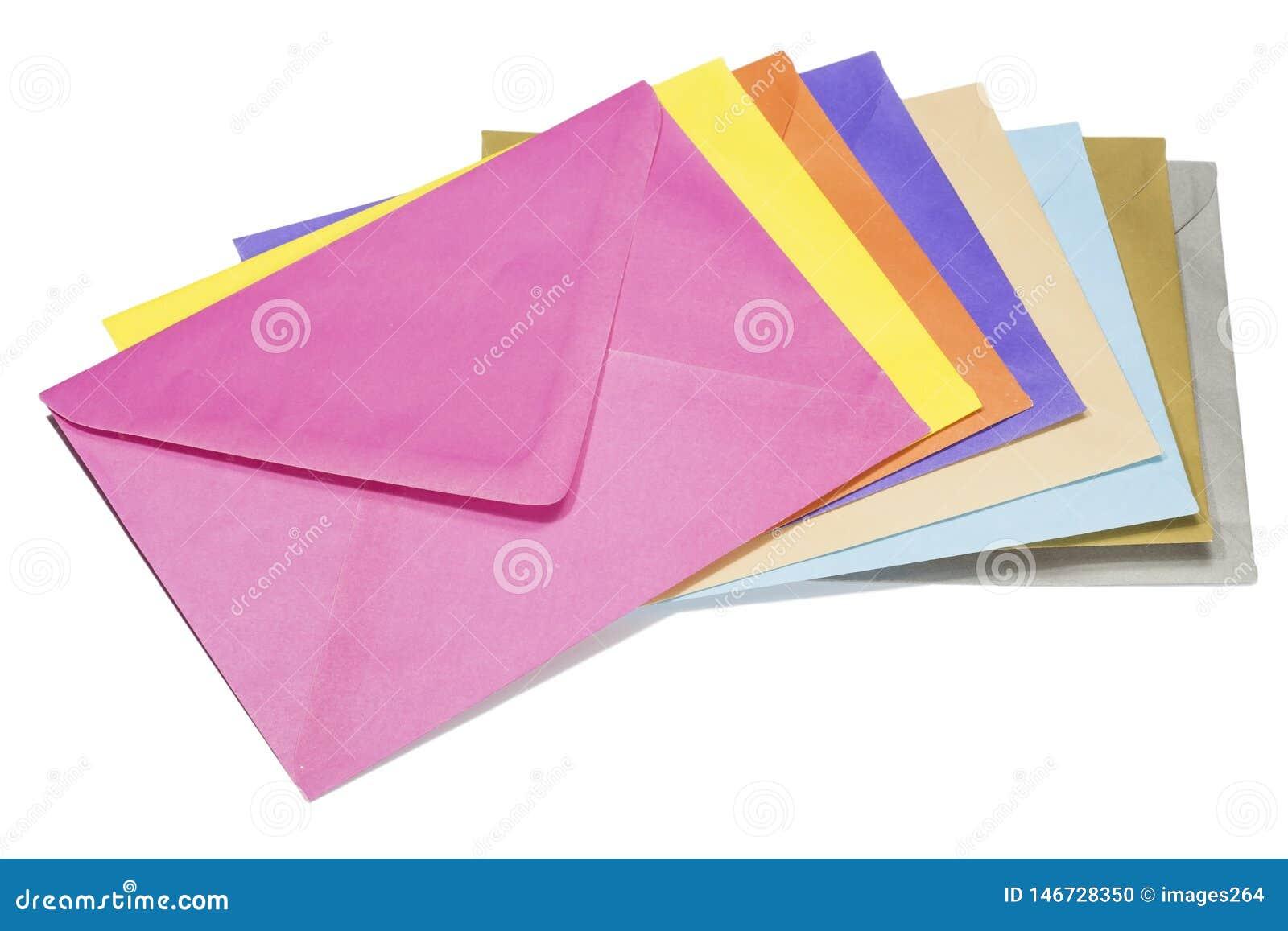 五颜六色的信封