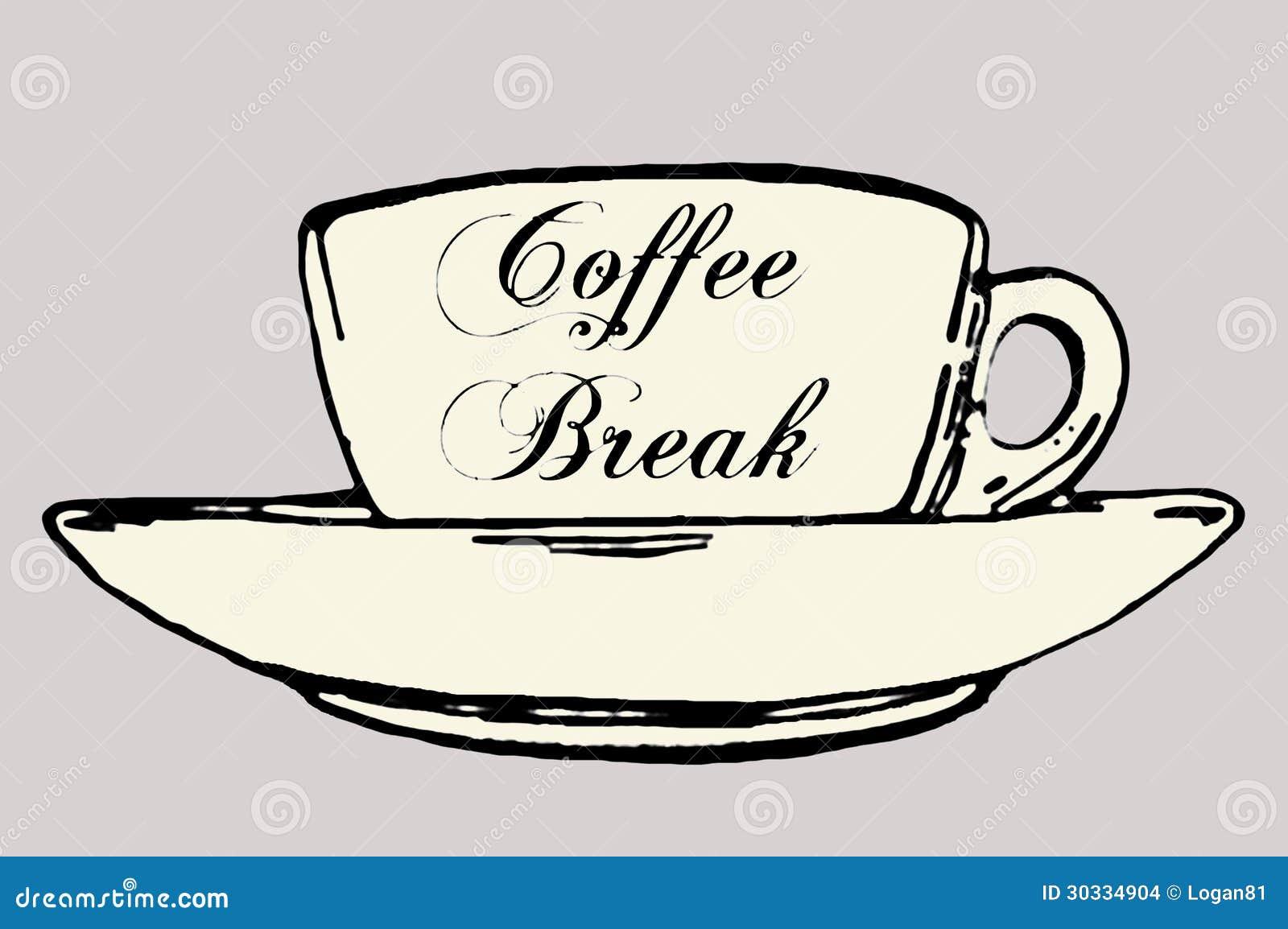 五颜六色的咖啡休息