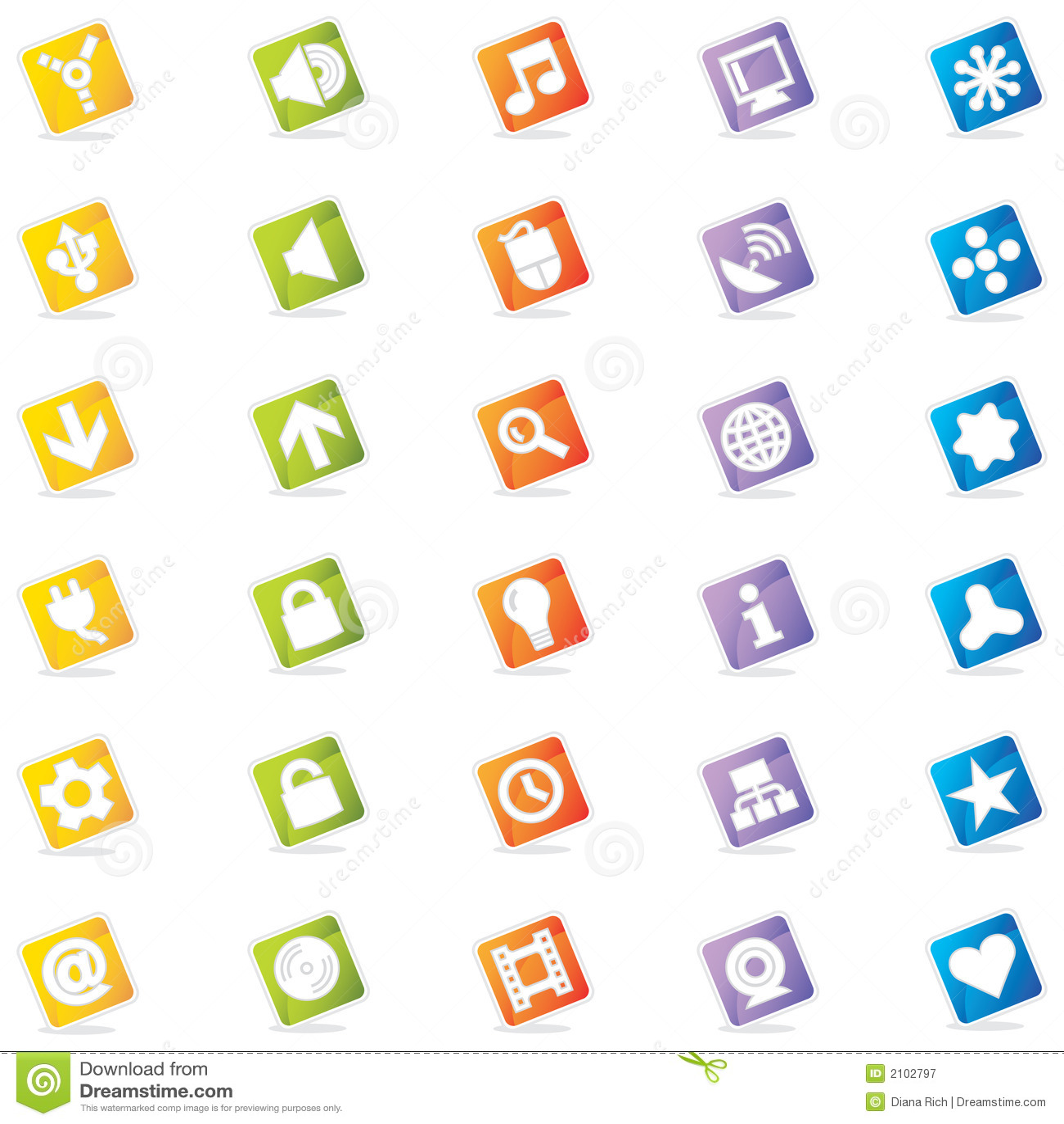 五颜六色的图标导航万维网