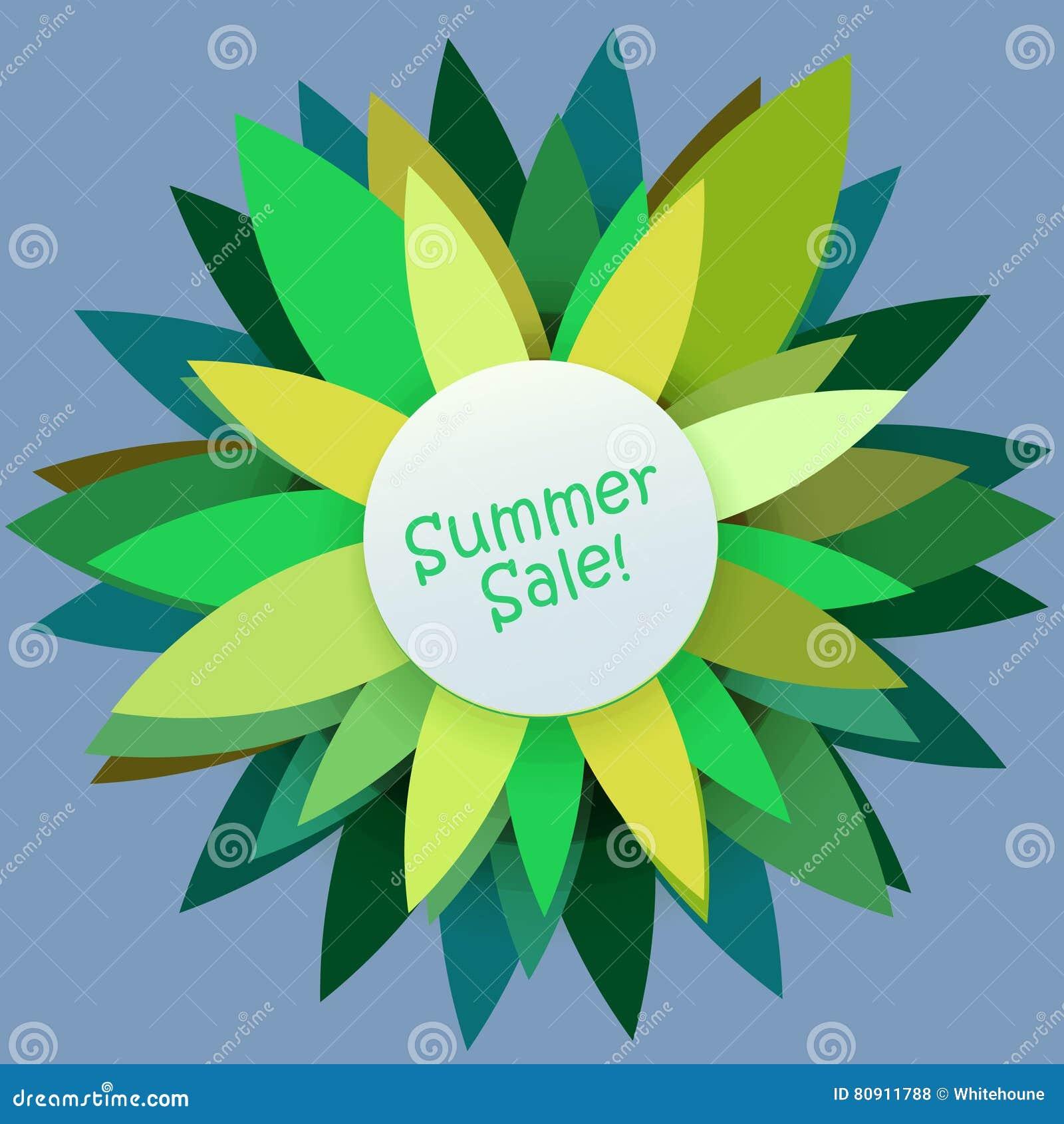 五颜六色的夏天贴纸