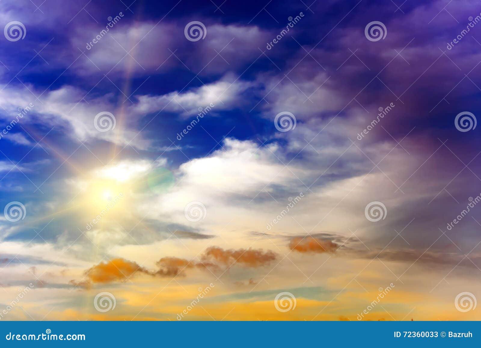 五颜六色的天空