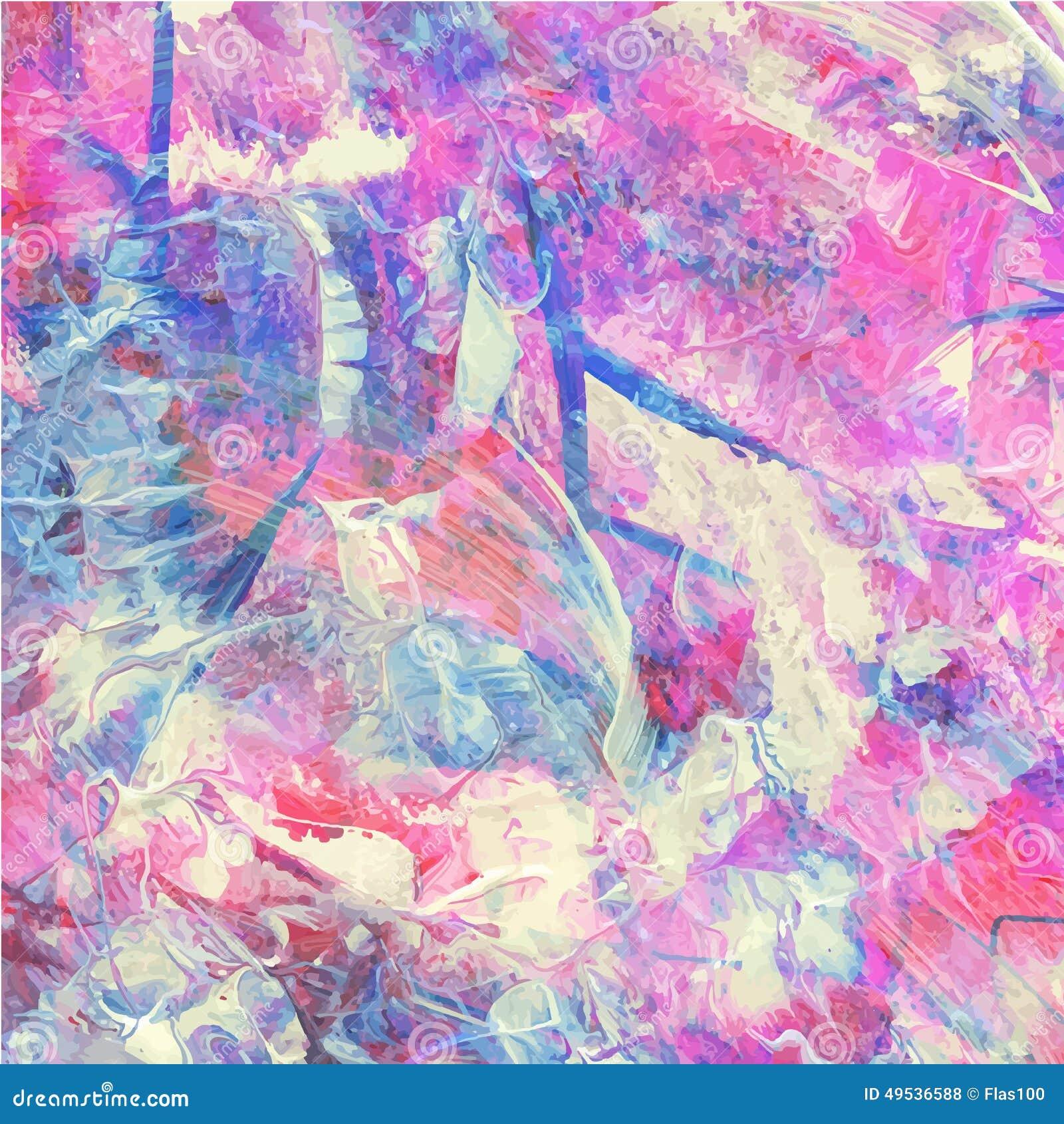 五颜六色的意思_五颜六色的抽象水彩丙烯酸酯的绘画