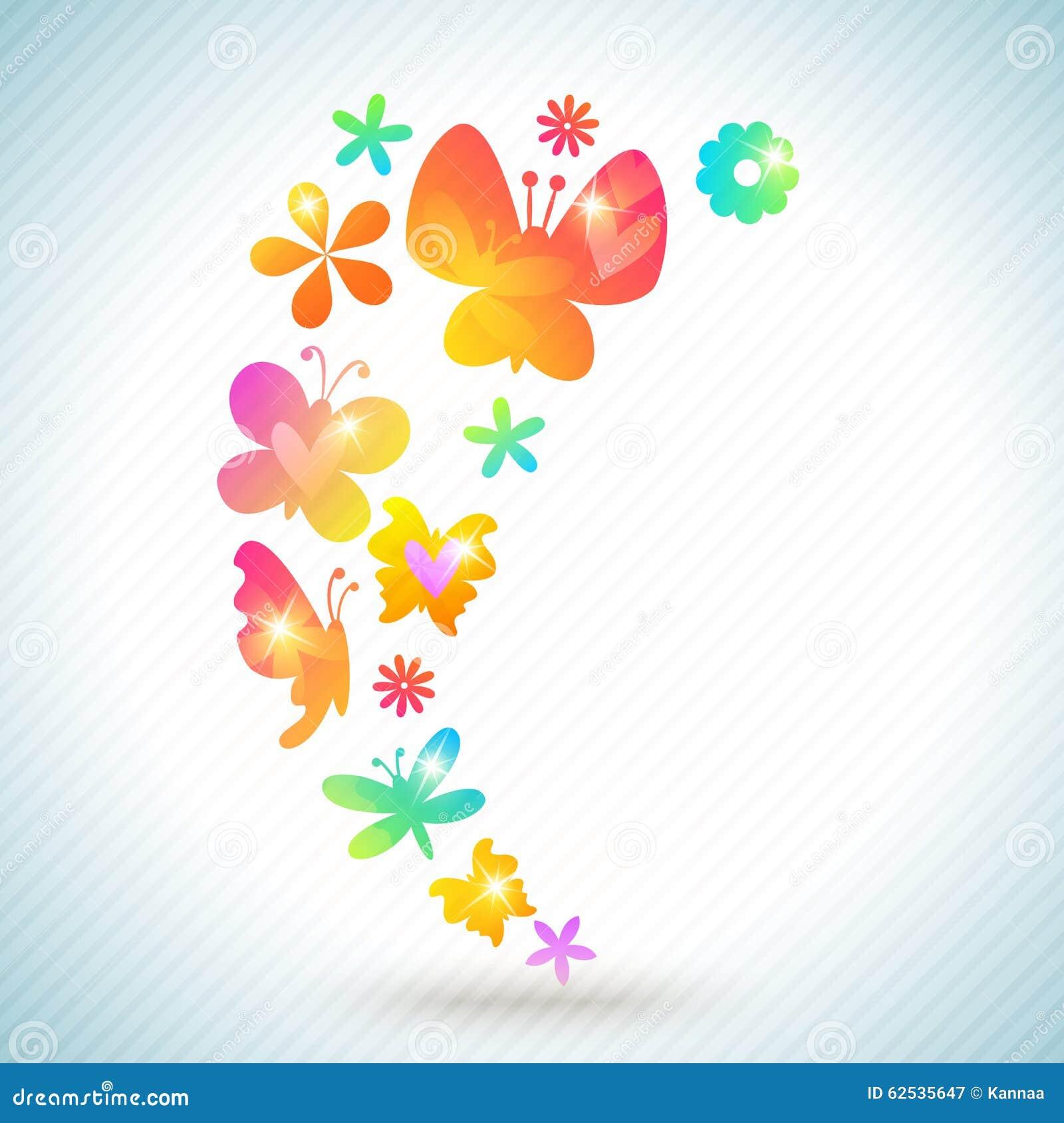 五颜六色的春天背景设计 例证