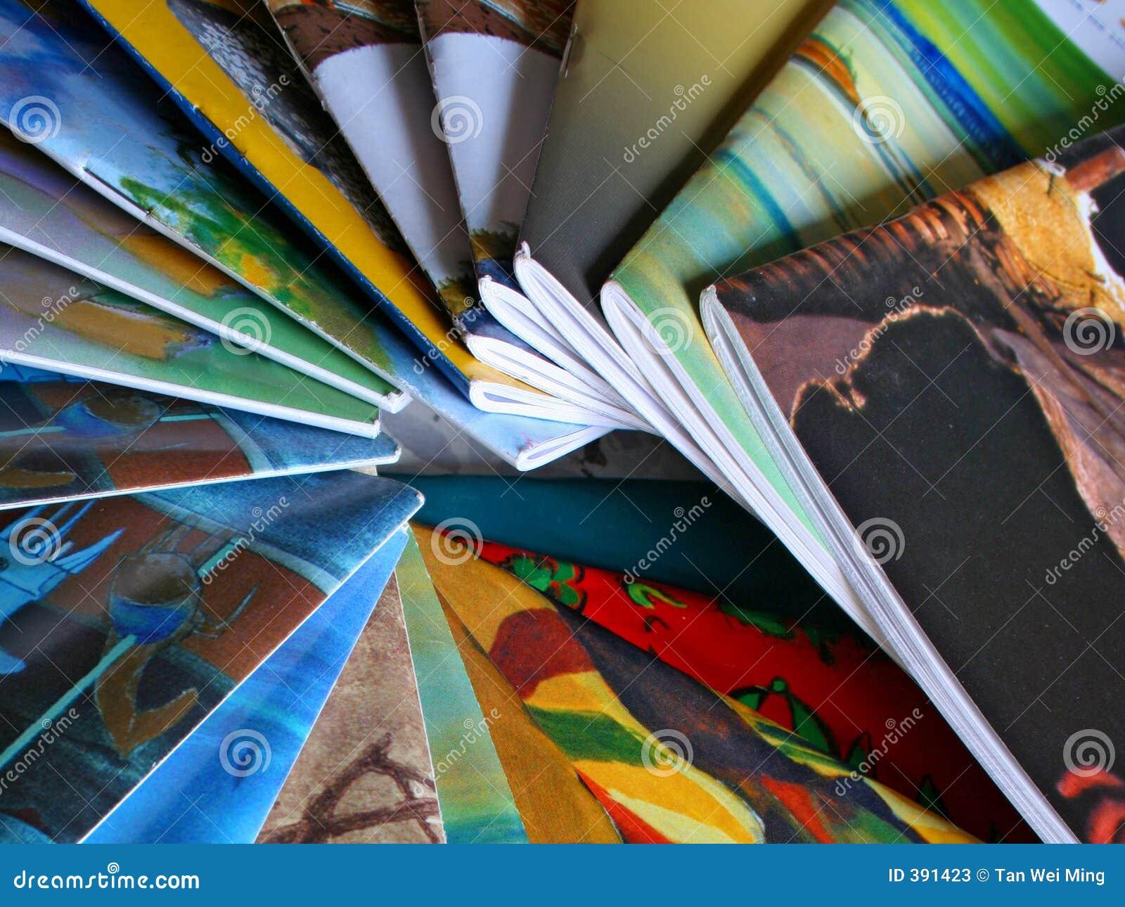 五颜六色的杂志