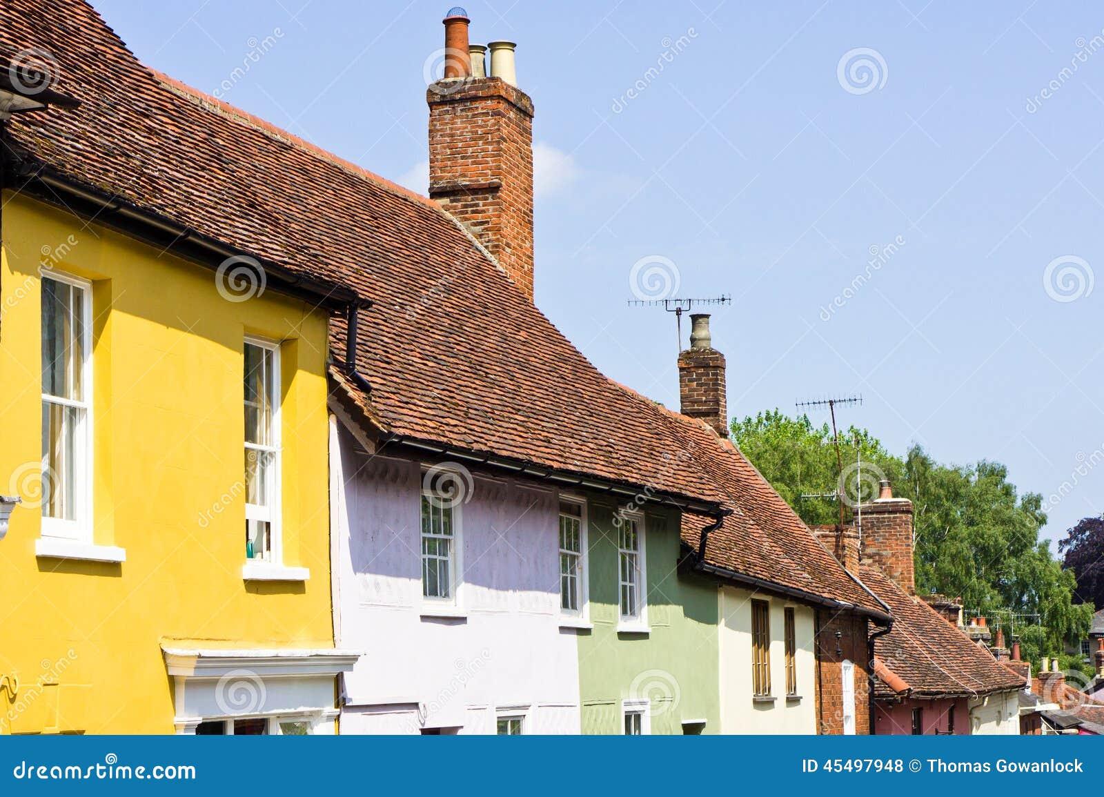 五颜六色的村庄