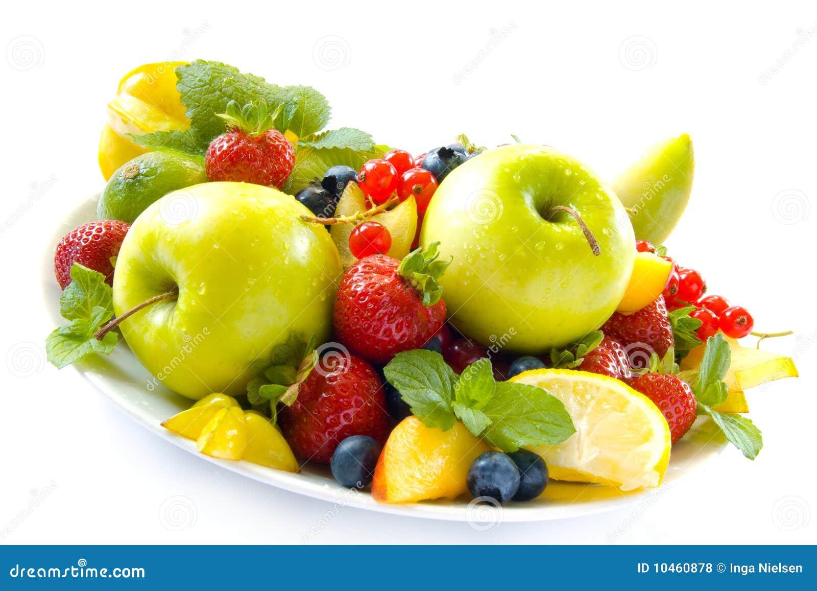 五颜六色的果子