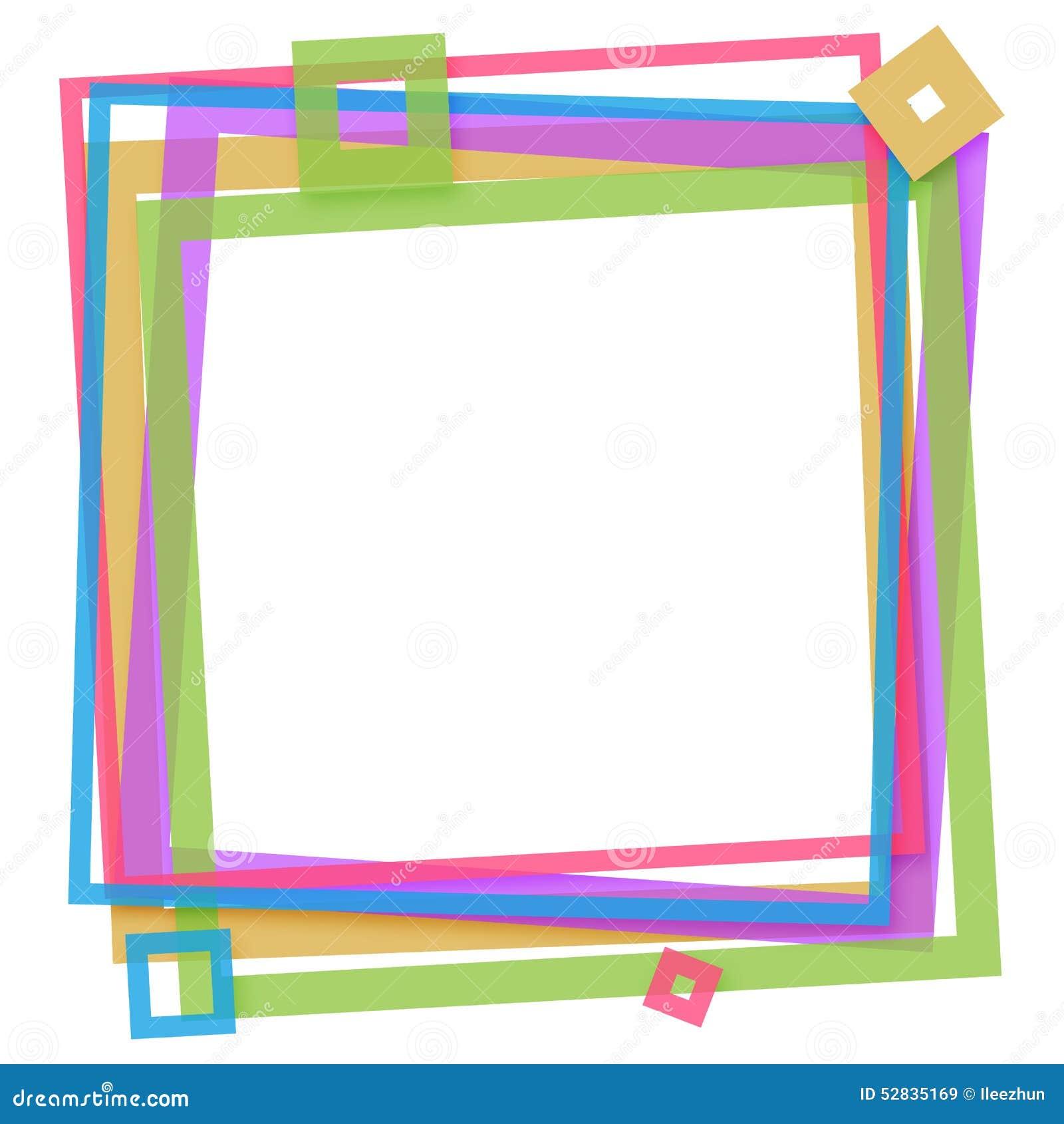 五颜六色的框架正方形图片