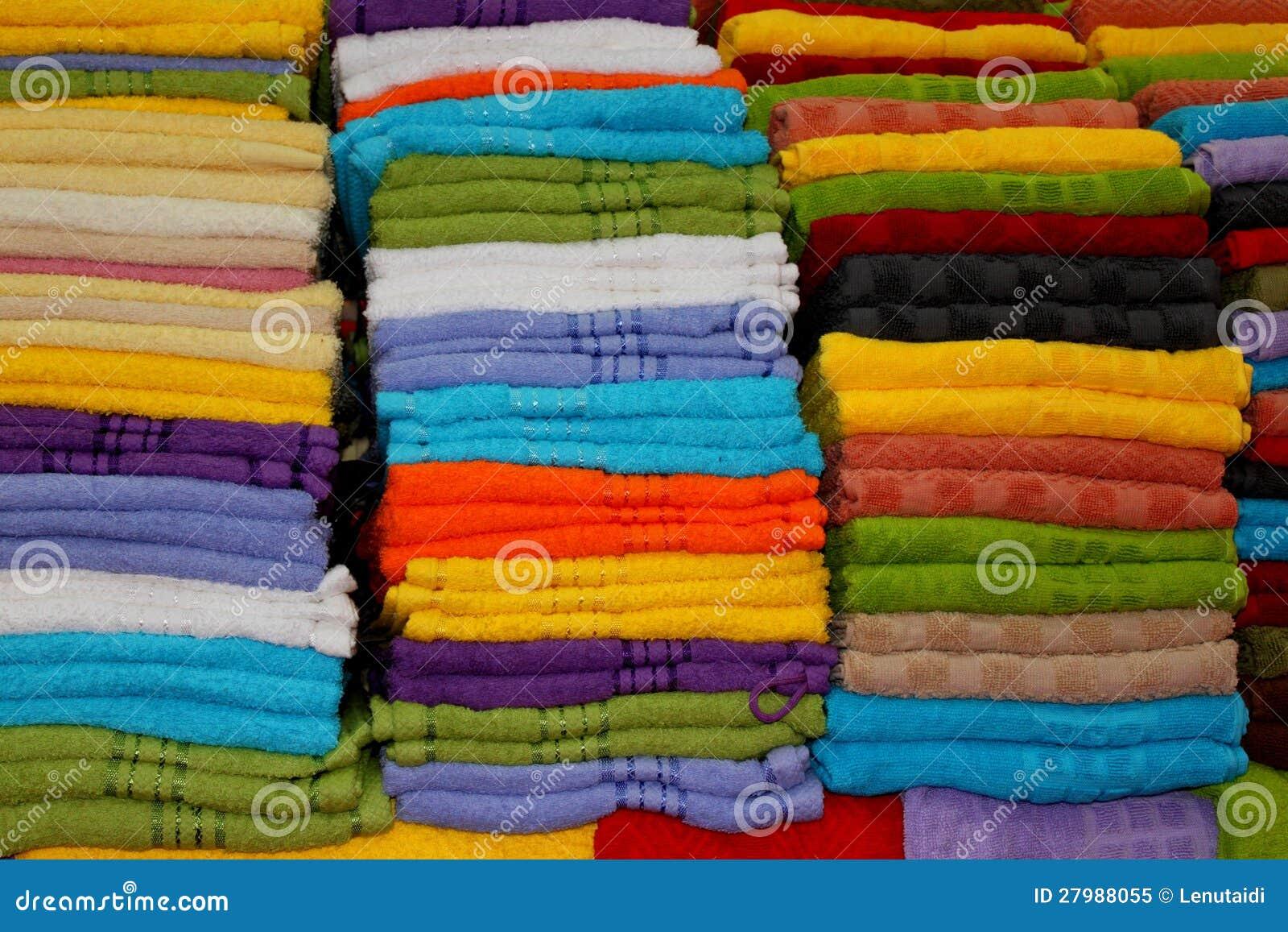 五颜六色的毛巾