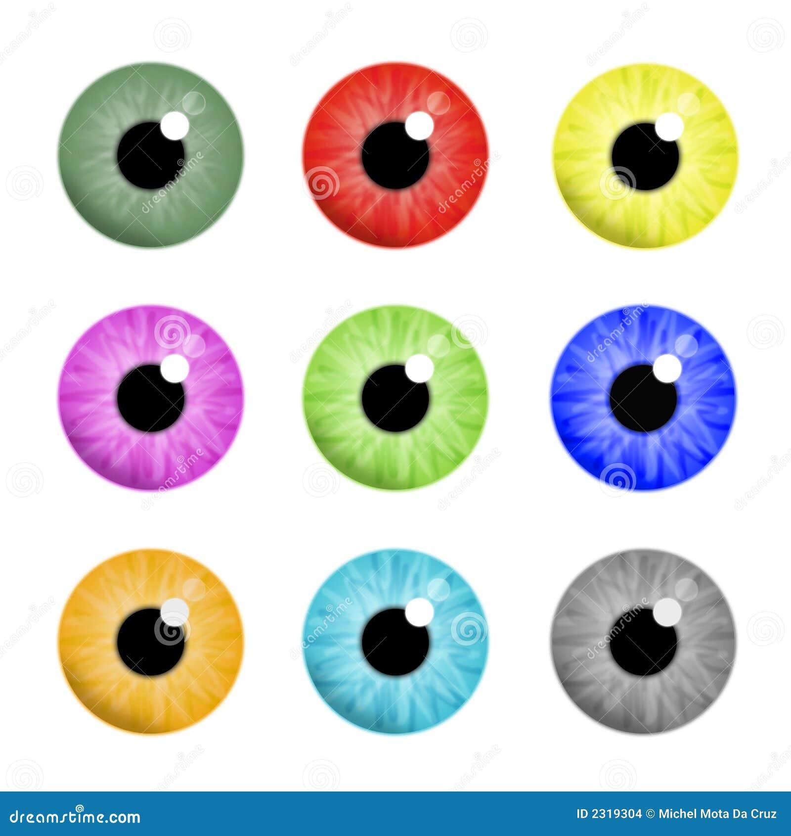 五颜六色的眼睛
