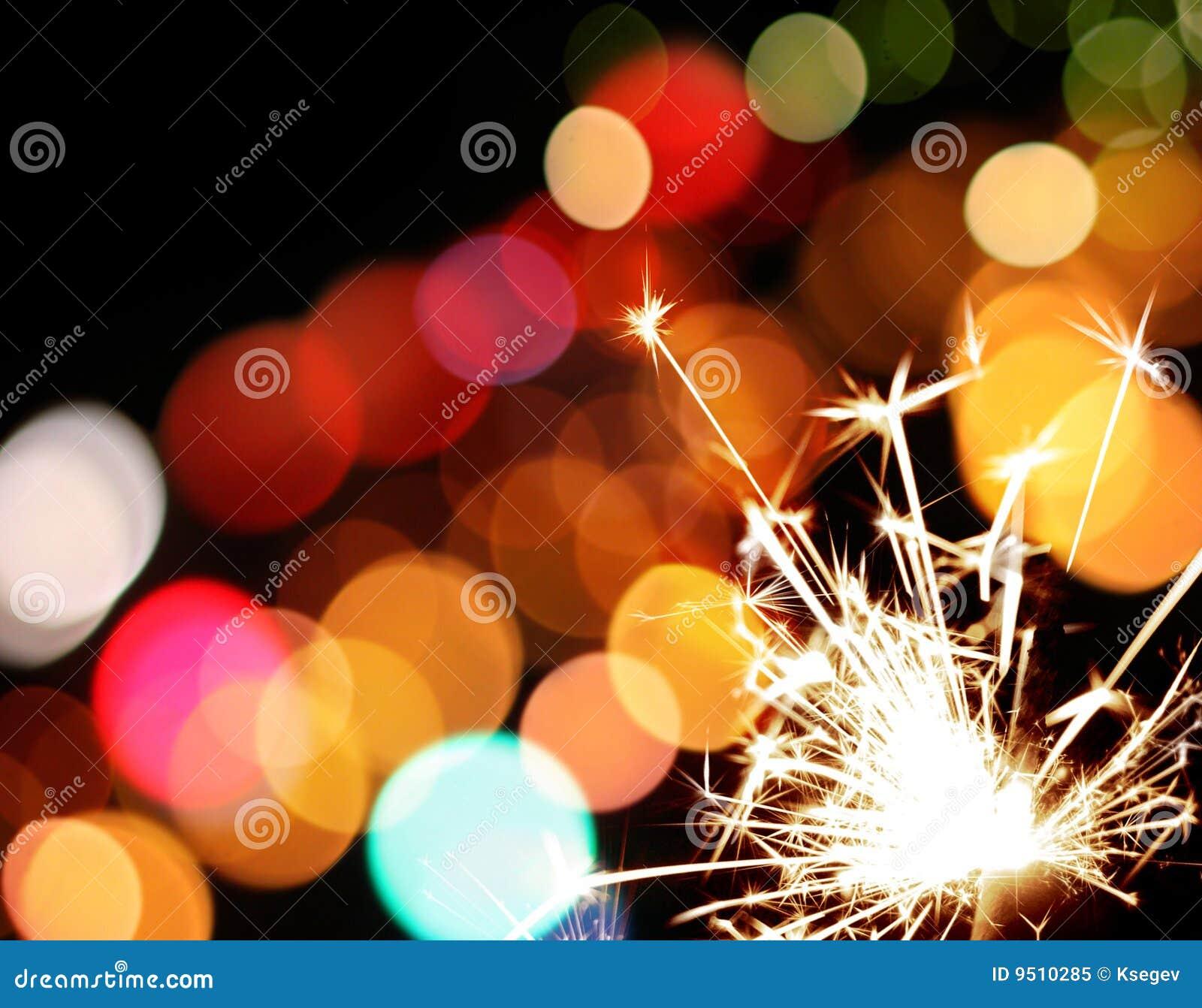 五颜六色的节假日点燃闪烁发光物