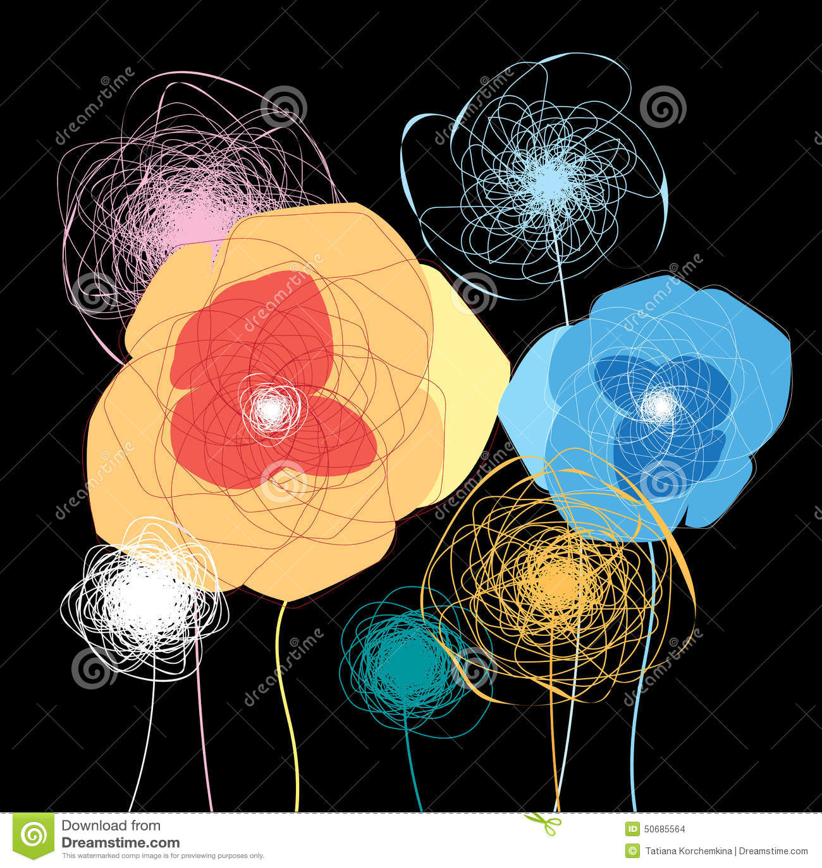 Download 五颜六色的花 向量例证. 插画 包括有 beautifuler, 凹道, 季节, 抽象, 图画, 许多, 背包 - 50685564