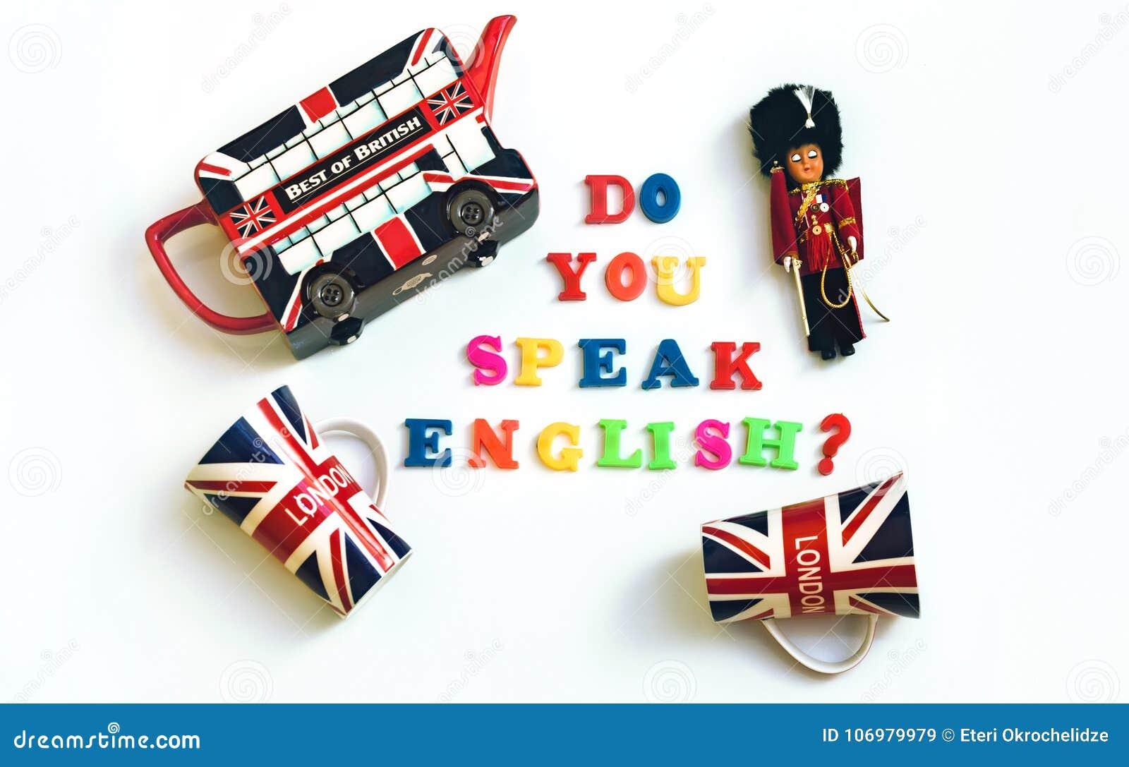 五颜六色的英国词您与从伦敦的纪念品讲学会概念的英语,英语
