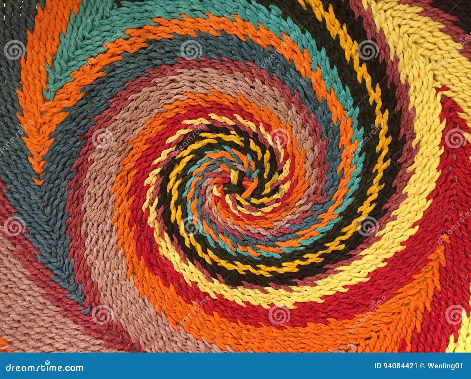 五颜六色的螺旋样式